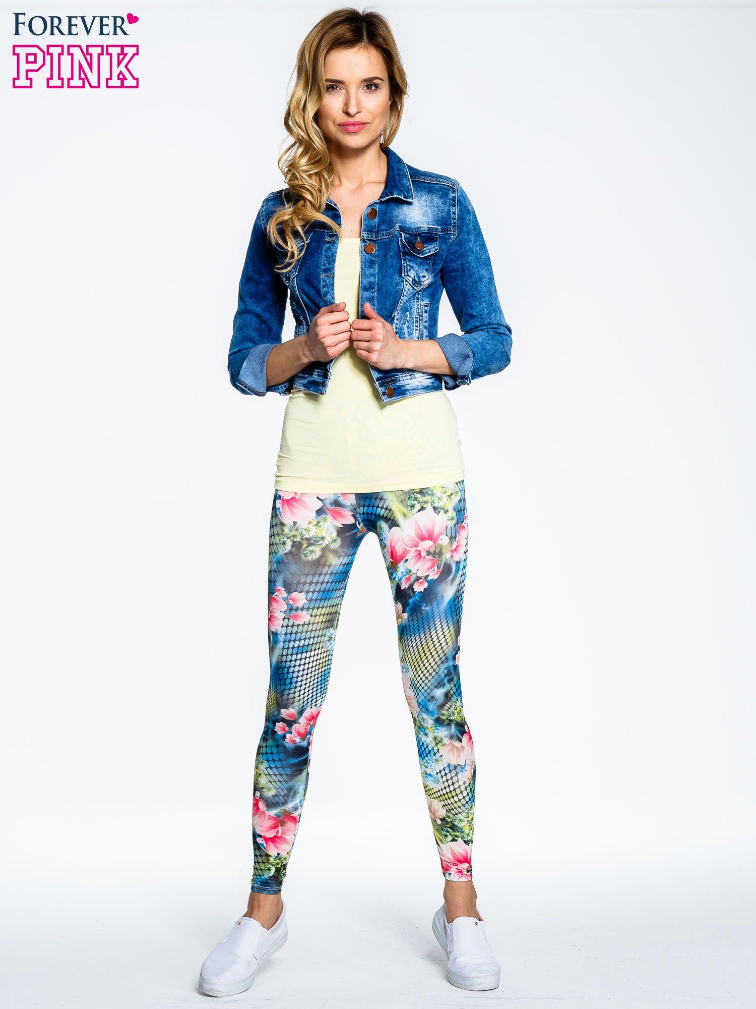 Kwiatowe legginsy z motywem floral print                                  zdj.                                  8