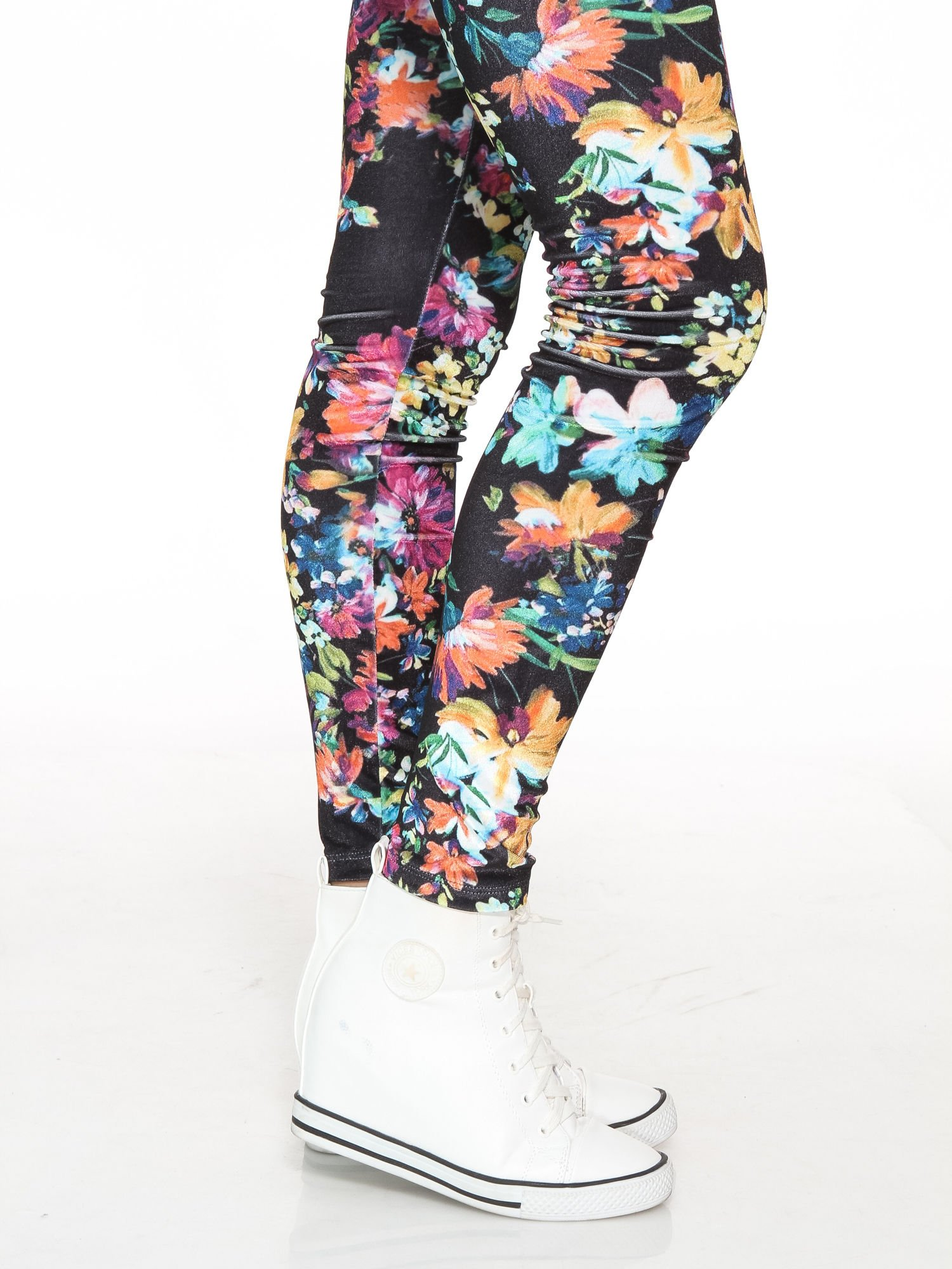 Kwiatowe legginsy z wysokim stanem                                  zdj.                                  7
