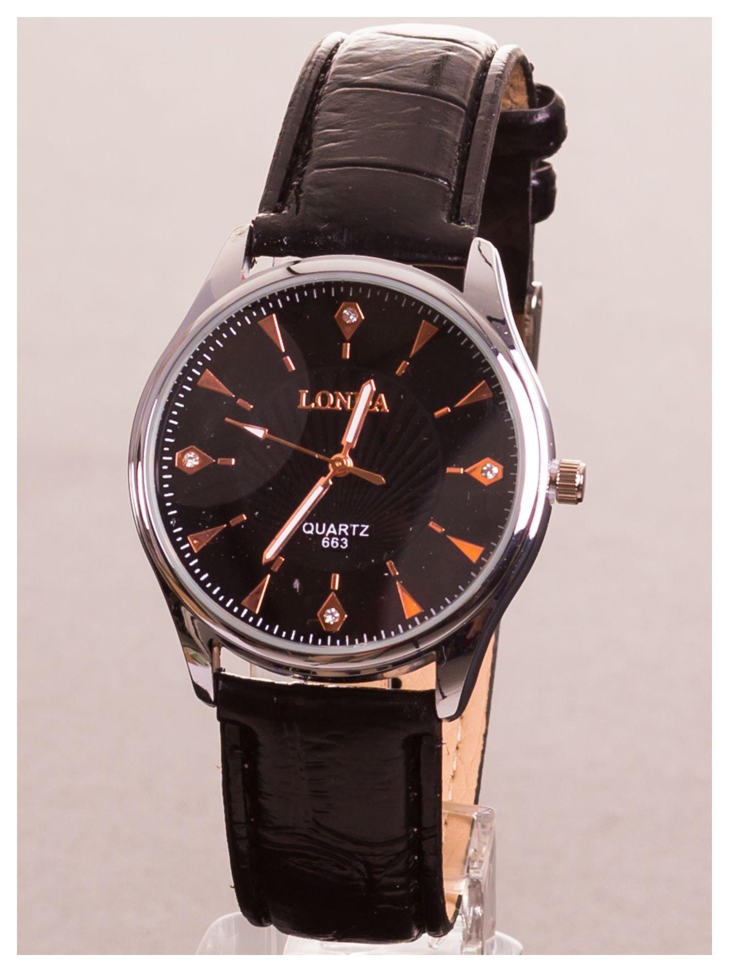 LONDA Męski zegarek z cyrkoniami. Niby klasyczny, za to te cyrkonie... urok w czystej postaci                                  zdj.                                  1
