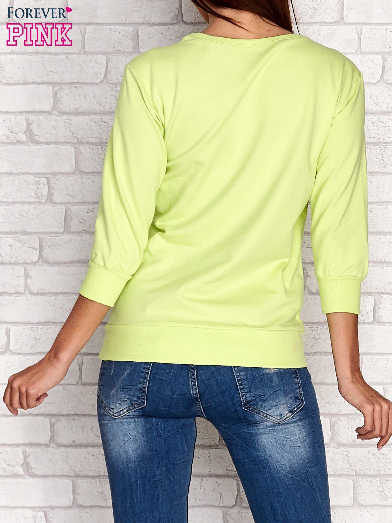 Limonkowa bluza z nadrukiem pandy                                  zdj.                                  4