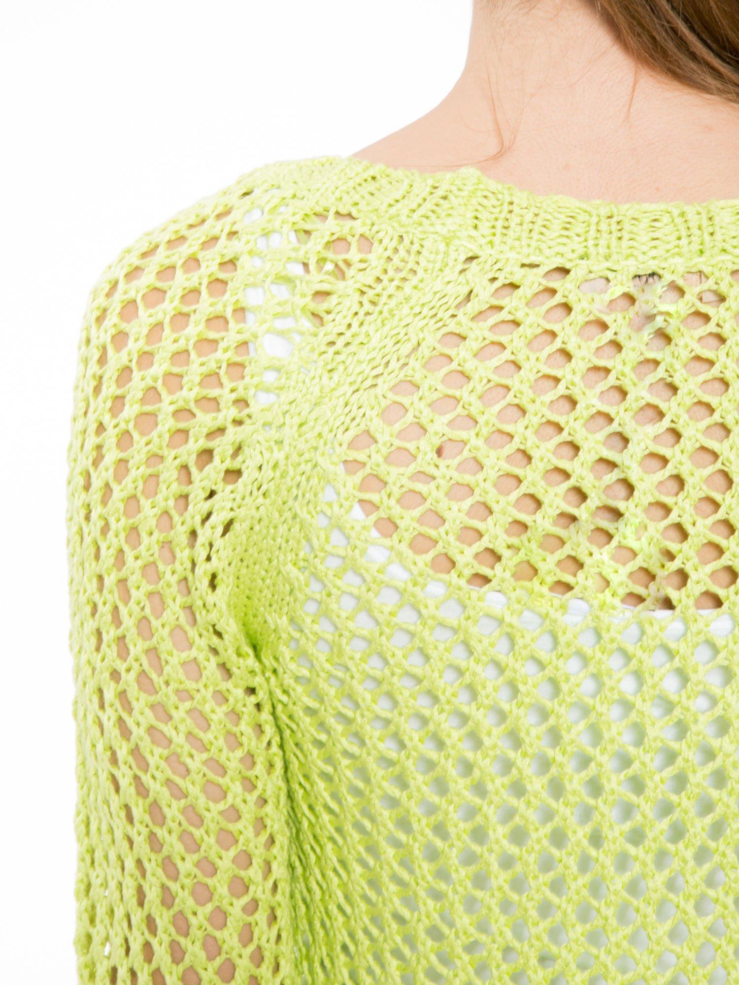 Limonkowy siatkowy sweter                                  zdj.                                  7