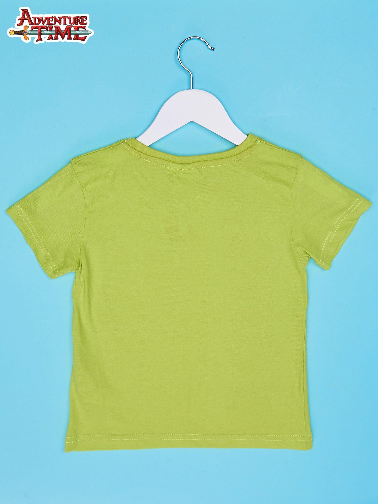 Limonkowy t-shirt chłopięcy z motywem ADVENTURE TIME                                   zdj.                                  2