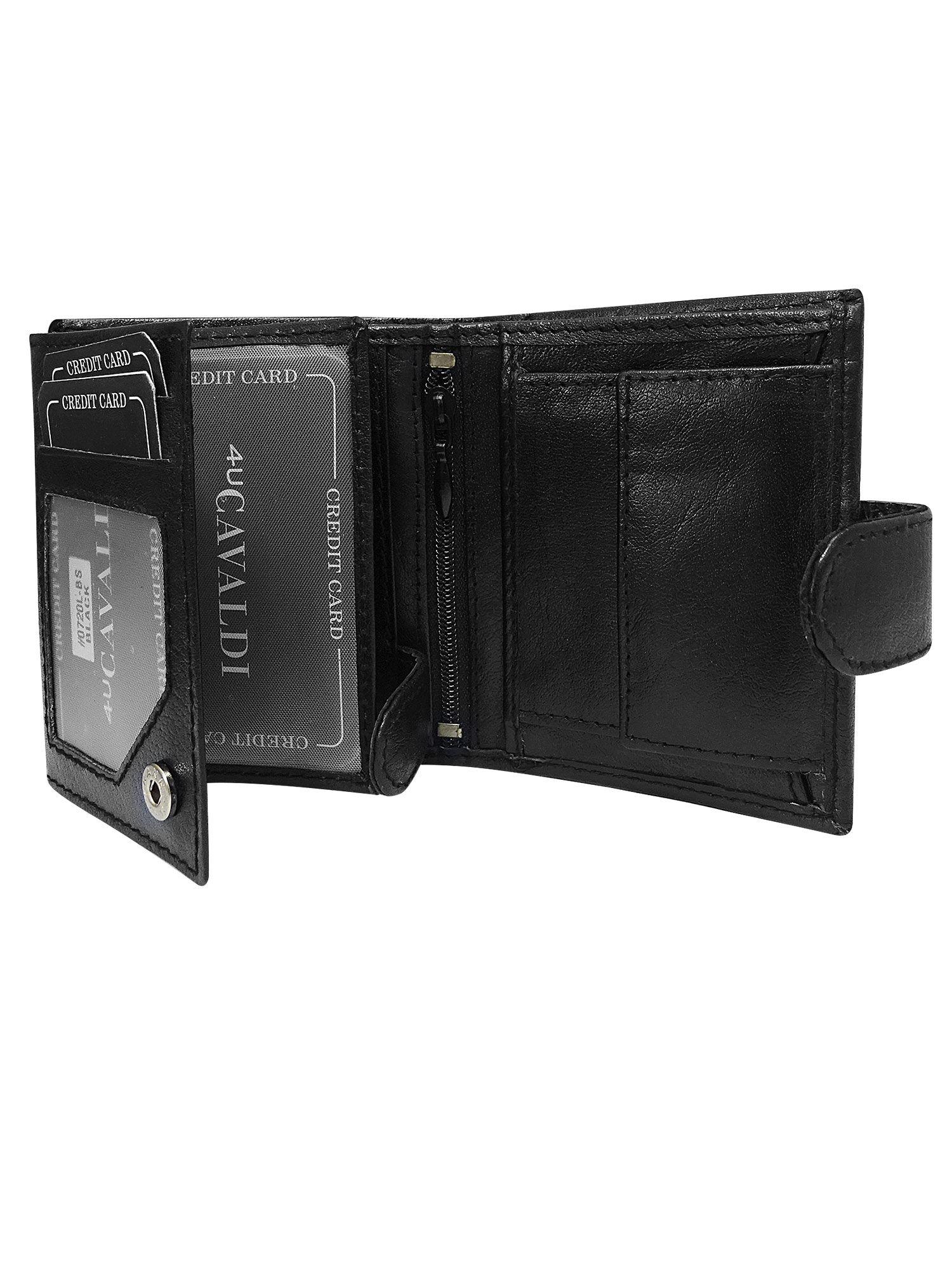 75b3a8ae195f7 Mały skórzany portfel męski czarny - Mężczyźni portfel męski - sklep ...