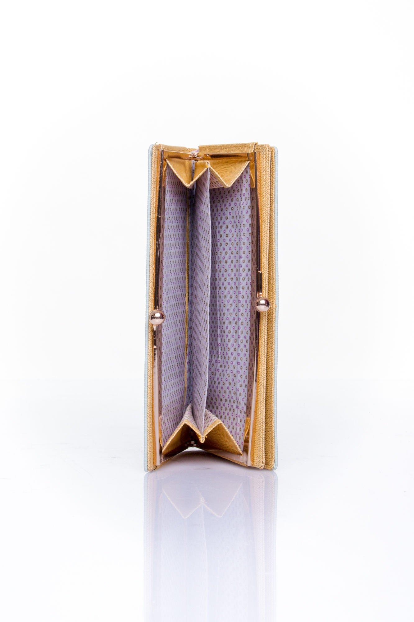 Miętowy portfel z biglem efekt saffiano                                   zdj.                                  4