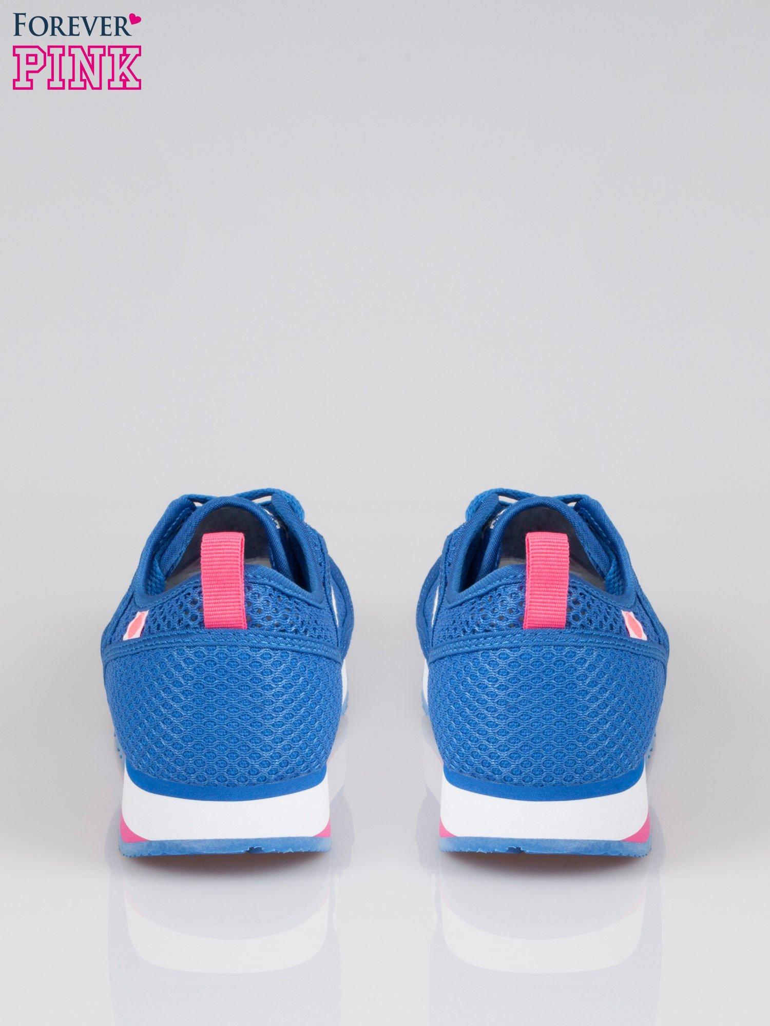 Morskie siateczkowe buty sportowe High Level na platformie                                  zdj.                                  3