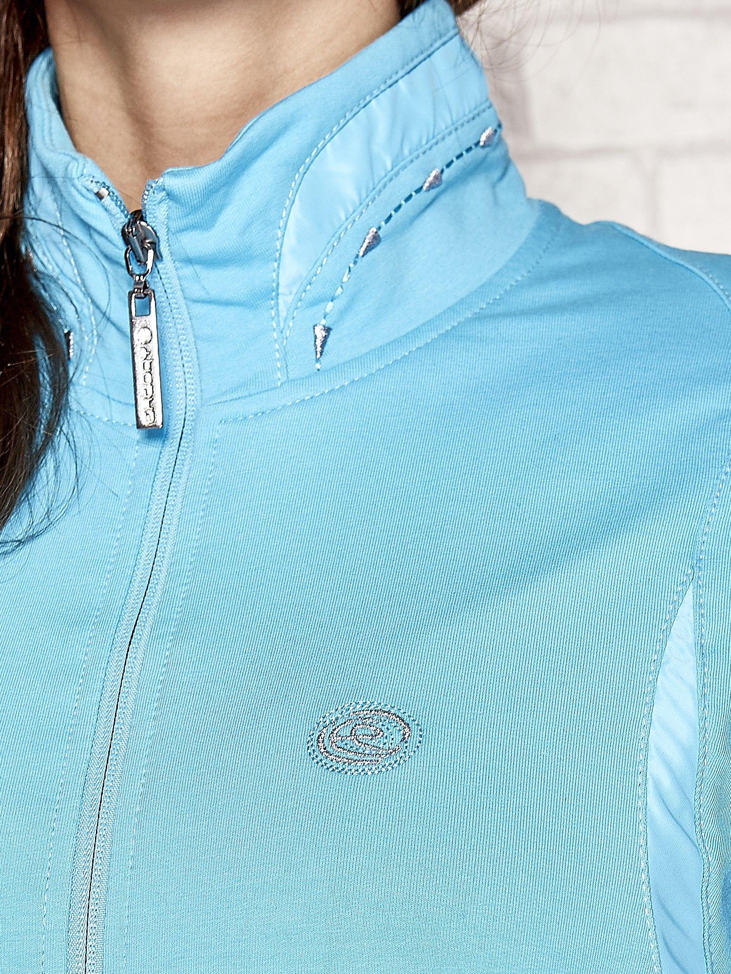Niebieska bluza sportowa fitness ze wstawkami                                  zdj.                                  4