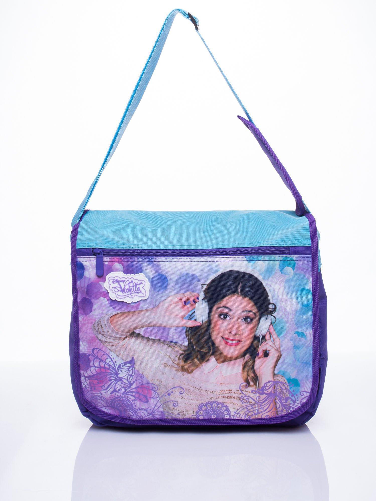 Niebieska torba szkolna DISNEY Violetta                                  zdj.                                  1