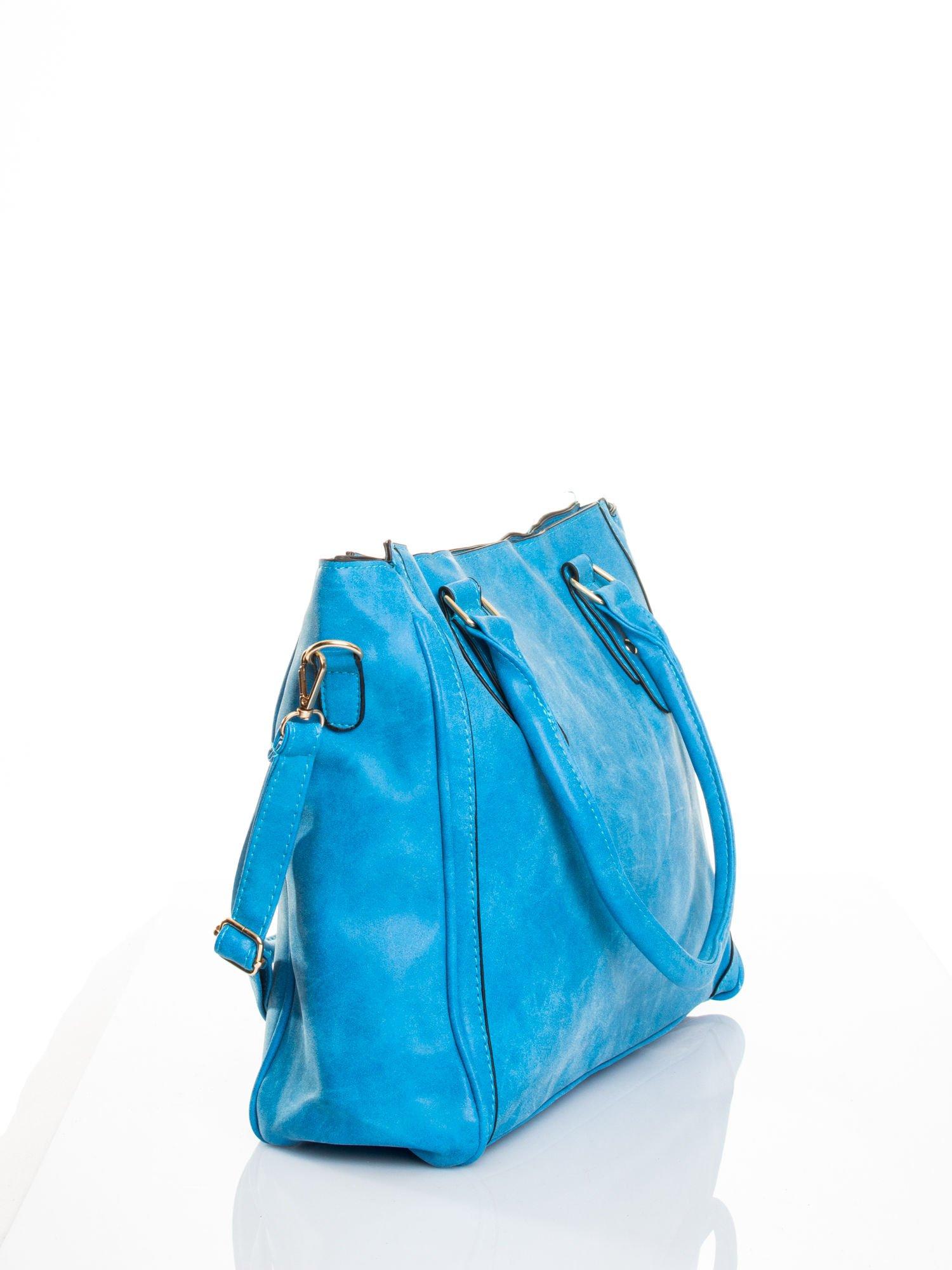 Niebieska torebka miejska                                  zdj.                                  3