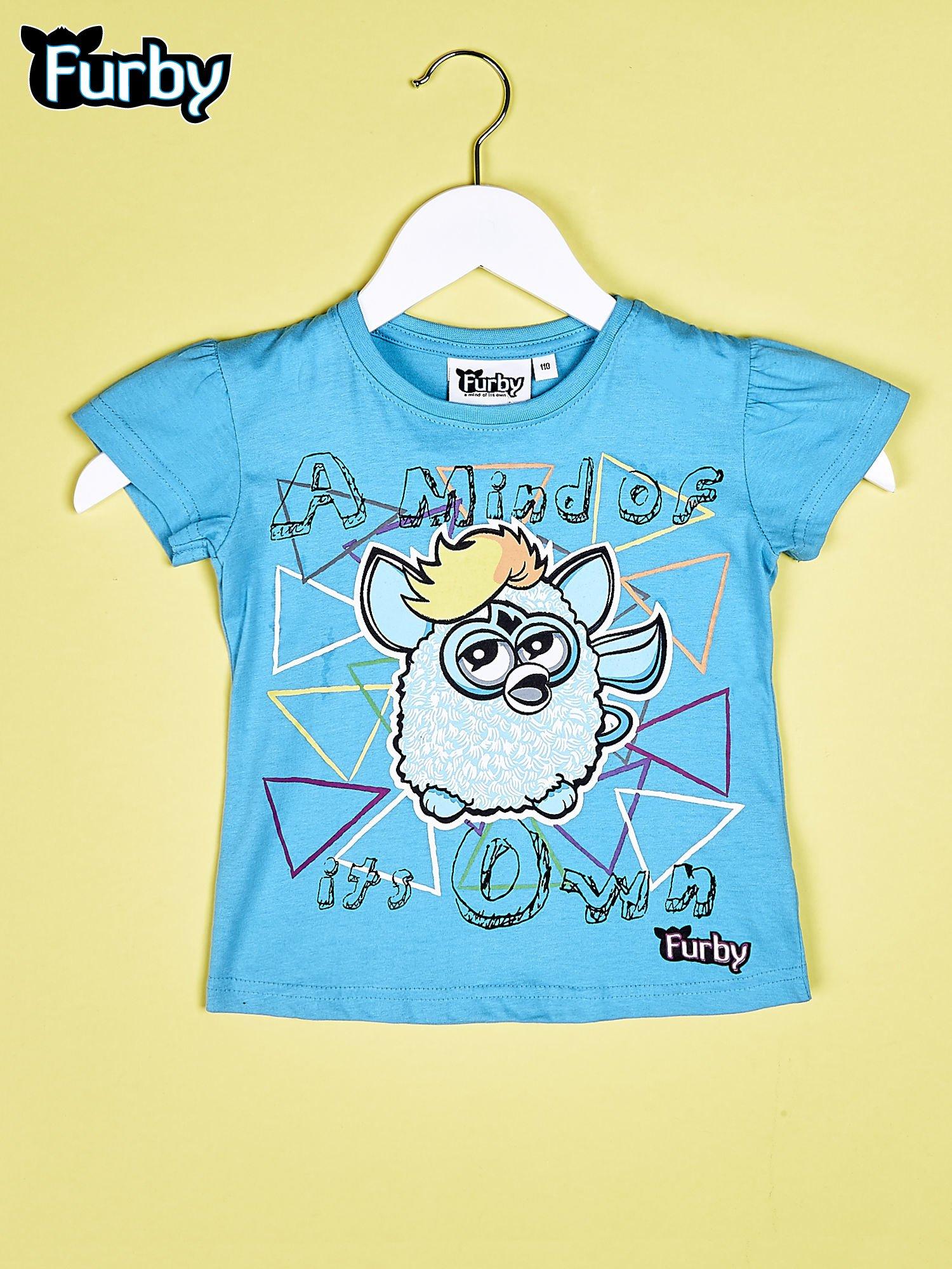 Niebieski chłopięcy t-shirt FURBY                                  zdj.                                  1
