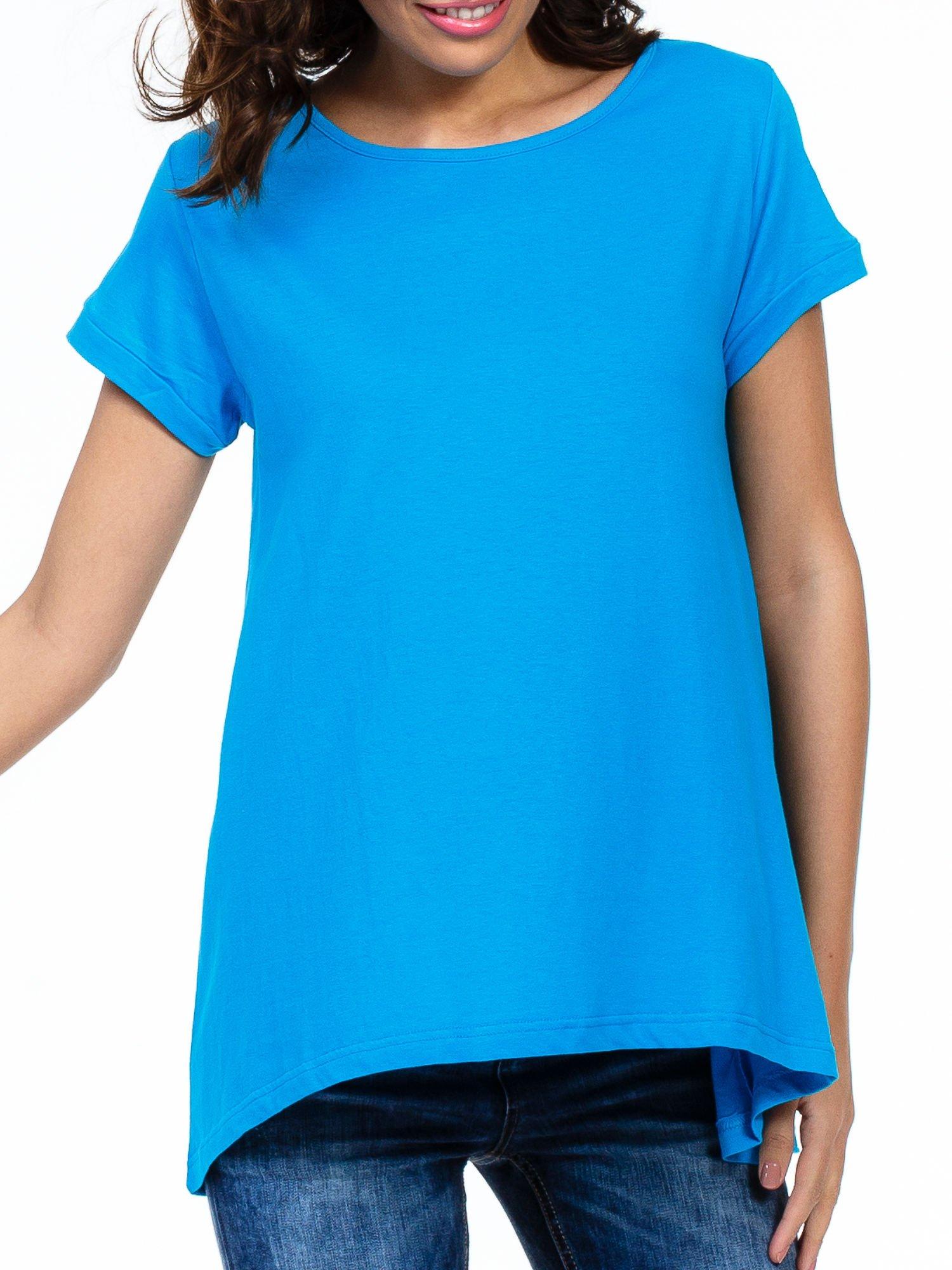 Niebieski luźny t-shirt                                   zdj.                                  5