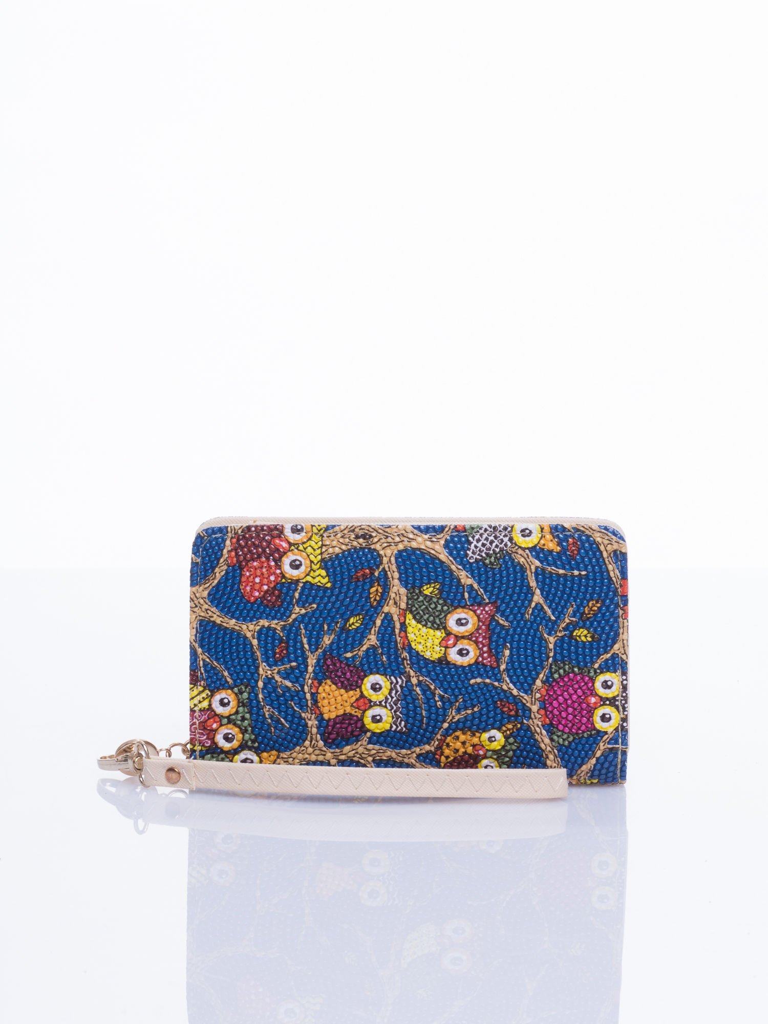 Niebieski mini portfel w sówki                                  zdj.                                  1
