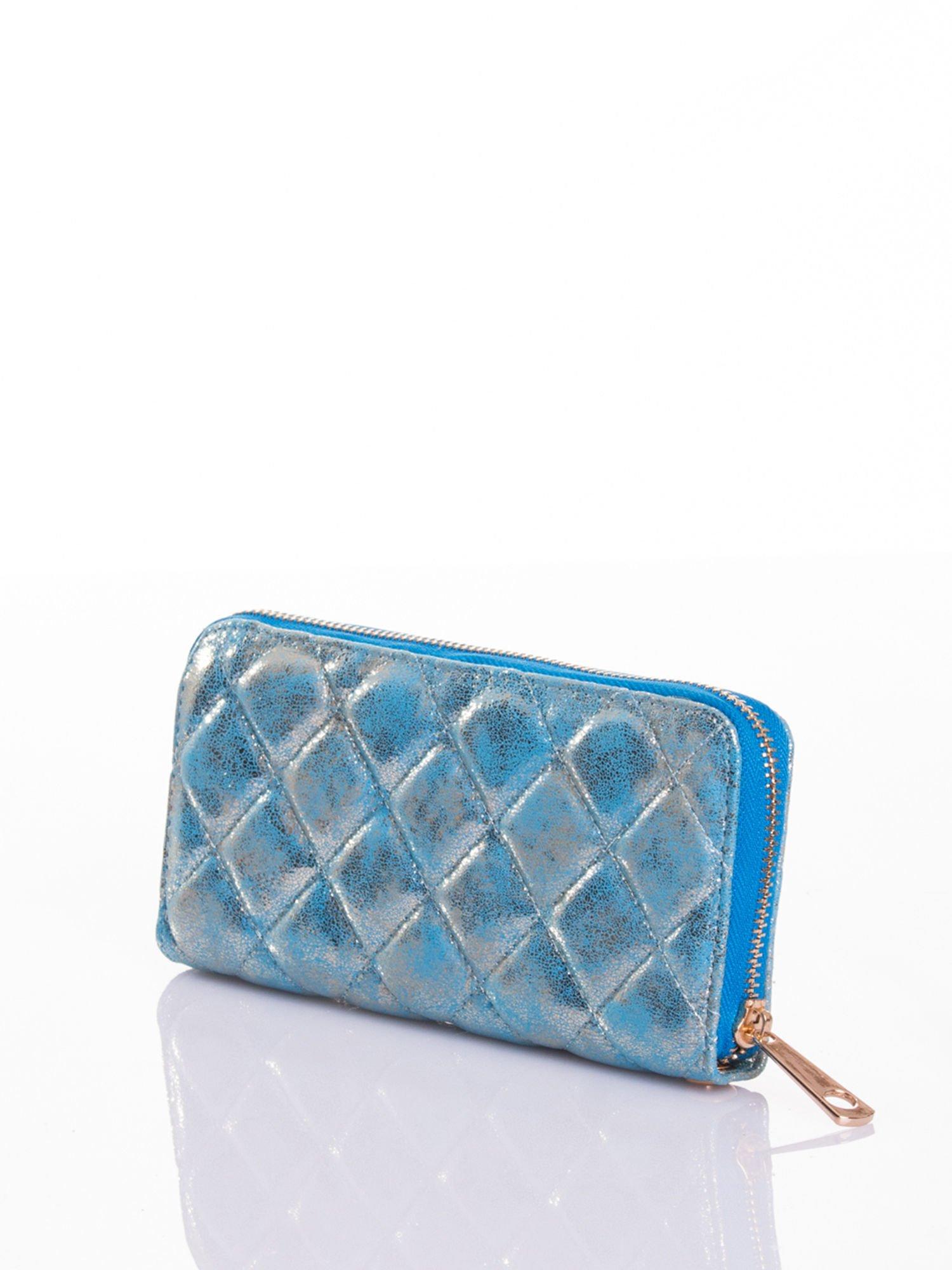 Niebieski pikowany portfel                                  zdj.                                  2