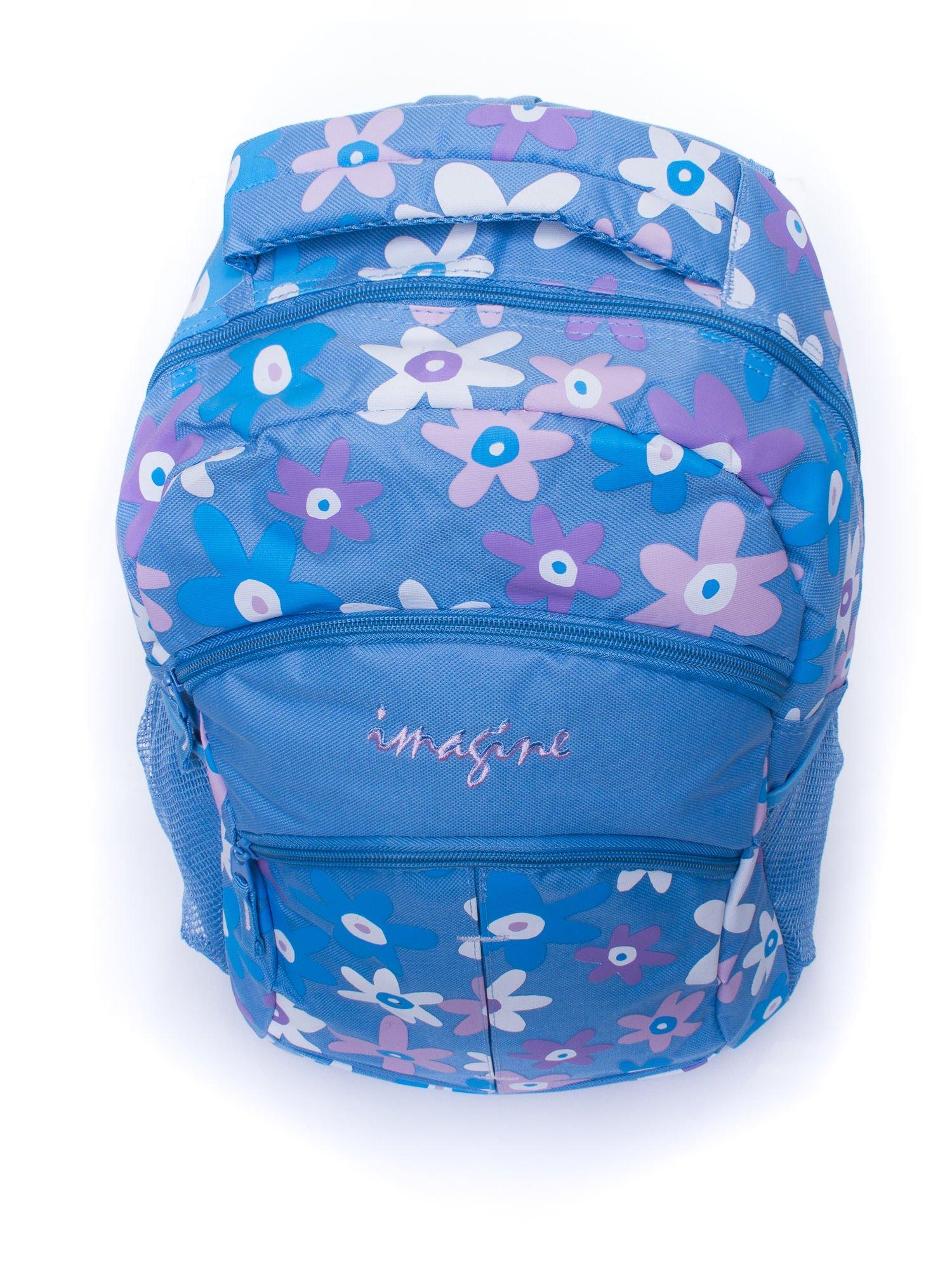 Niebieski plecak dla dziewczynki DISNEY w kwiatki                                  zdj.                                  5