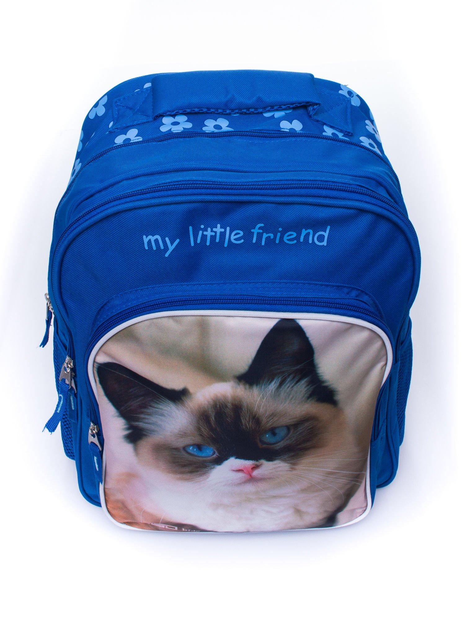 Niebieski plecak szkolny DISNEY z kotem                                  zdj.                                  5