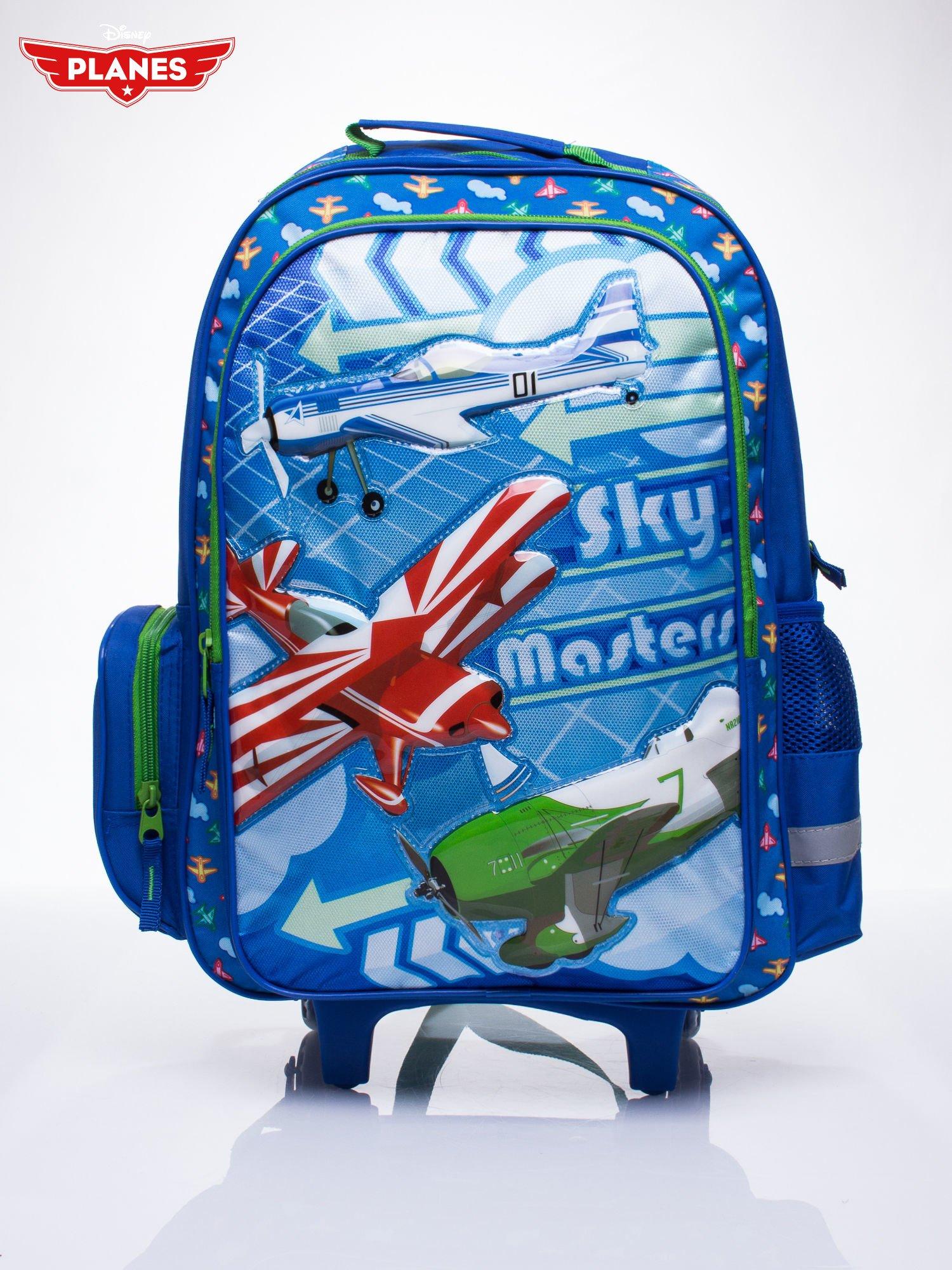 Niebieski plecak szkolny na kółkach walizka DISNEY Samoloty                                  zdj.                                  1