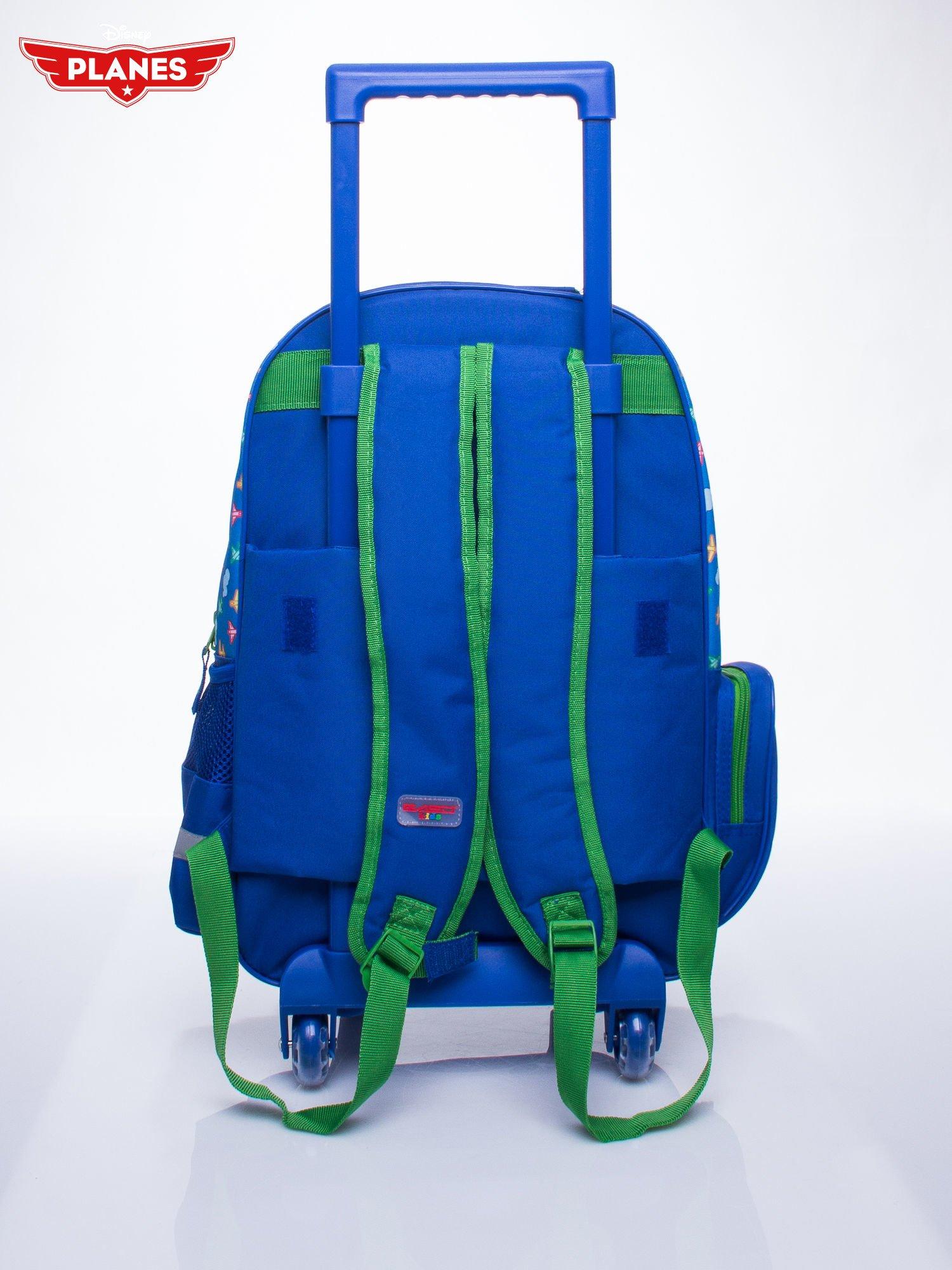 Niebieski plecak szkolny na kółkach walizka DISNEY Samoloty                                  zdj.                                  7