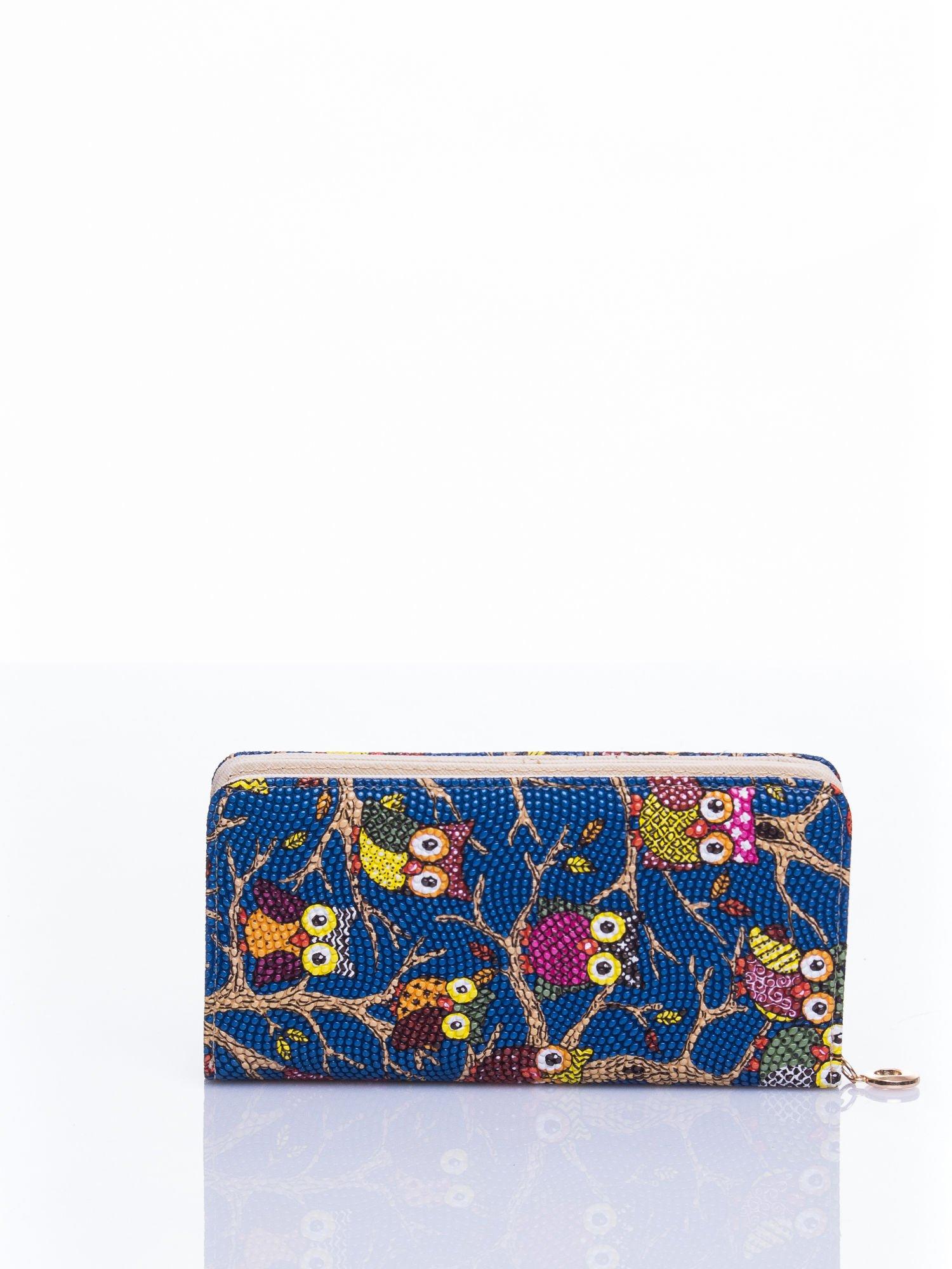 Niebieski portfel w sówki                                  zdj.                                  3