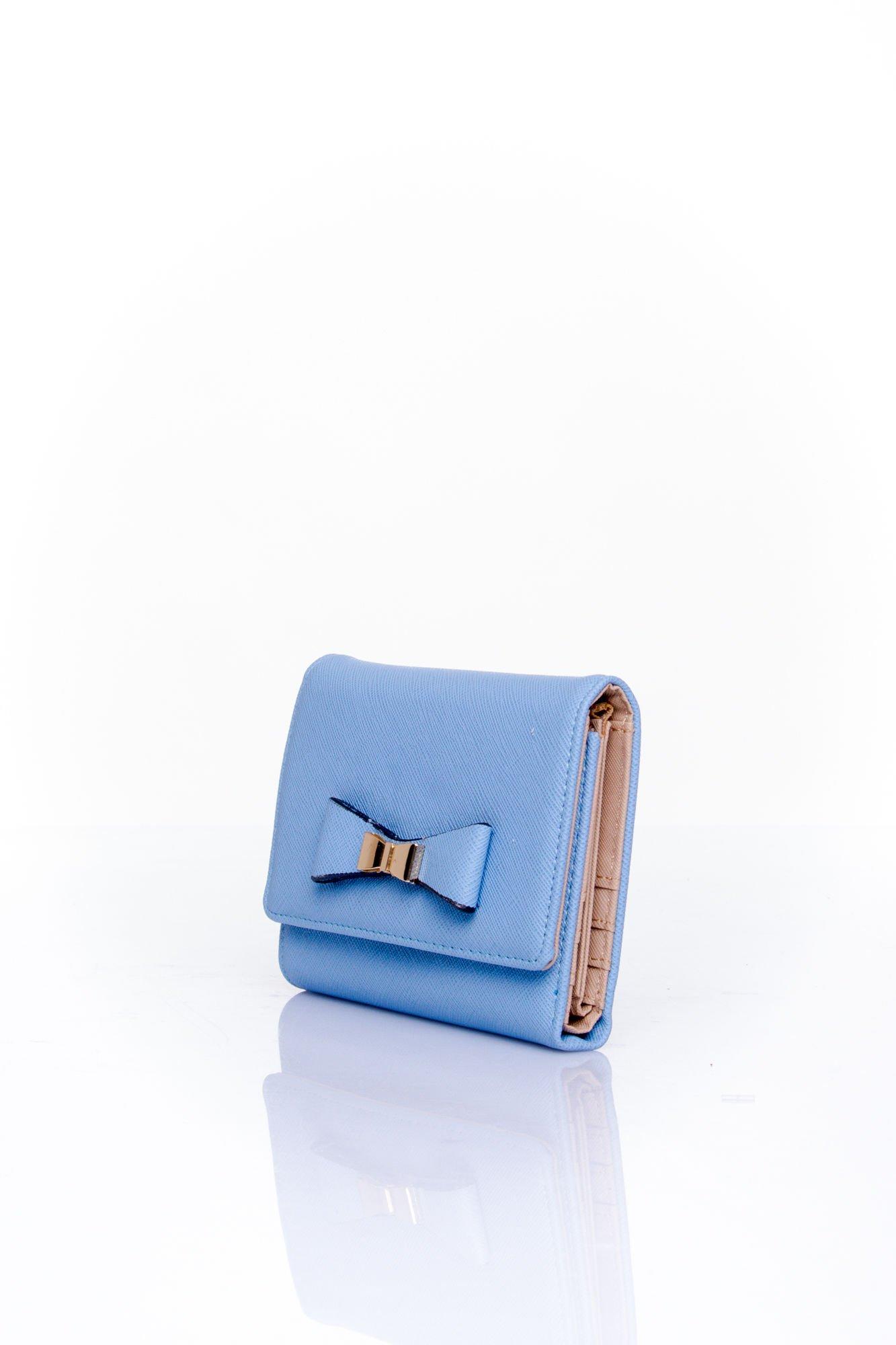 Niebieski portfel z kokardką                                  zdj.                                  3
