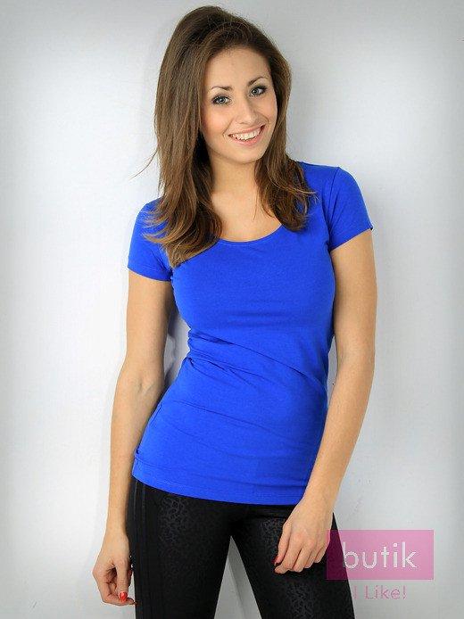 Niebieski t-shirt bawełniany For Fitness                                  zdj.                                  1
