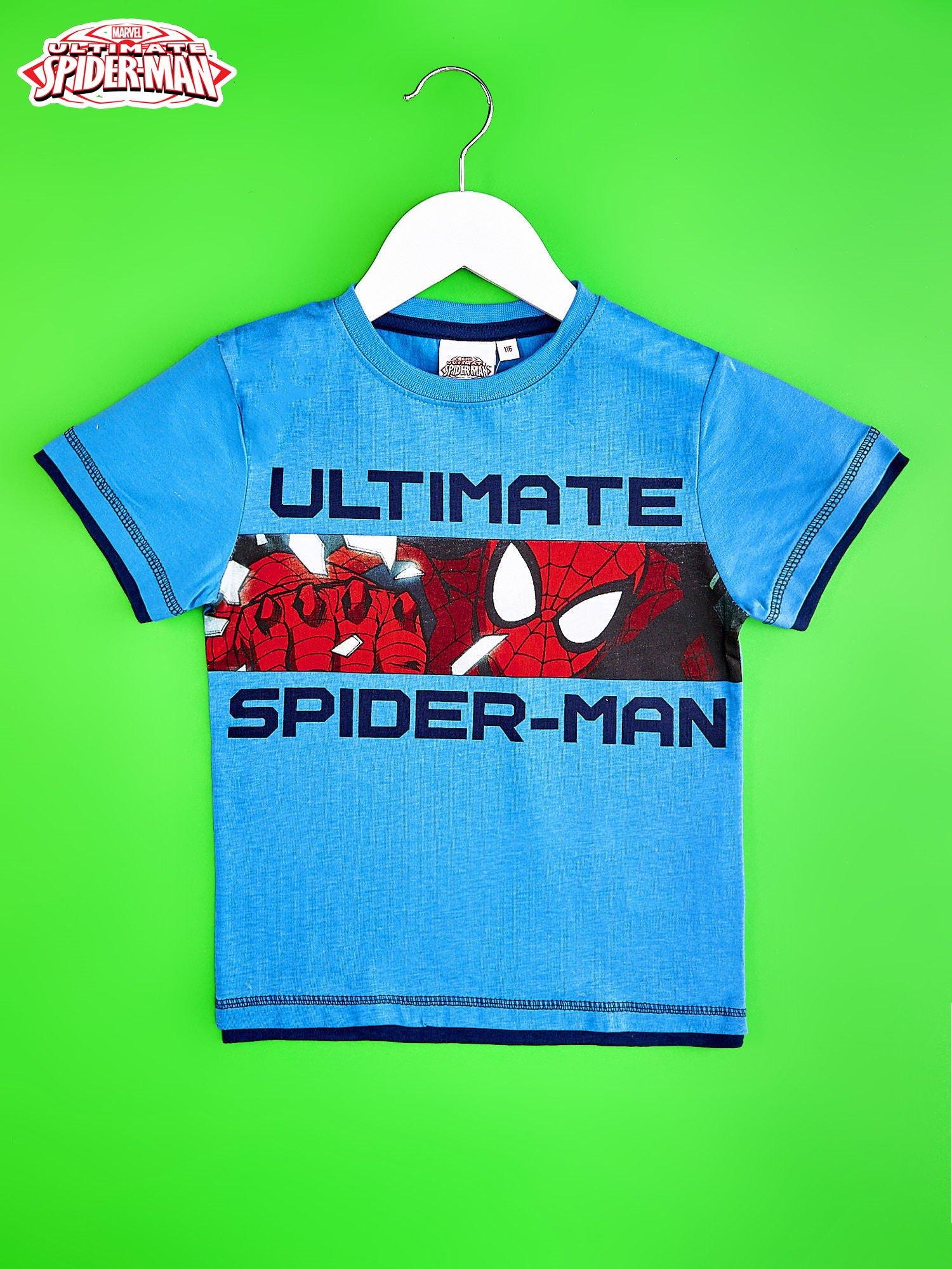 Niebieski t-shirt chłopięcy SPIDERMAN                                  zdj.                                  1