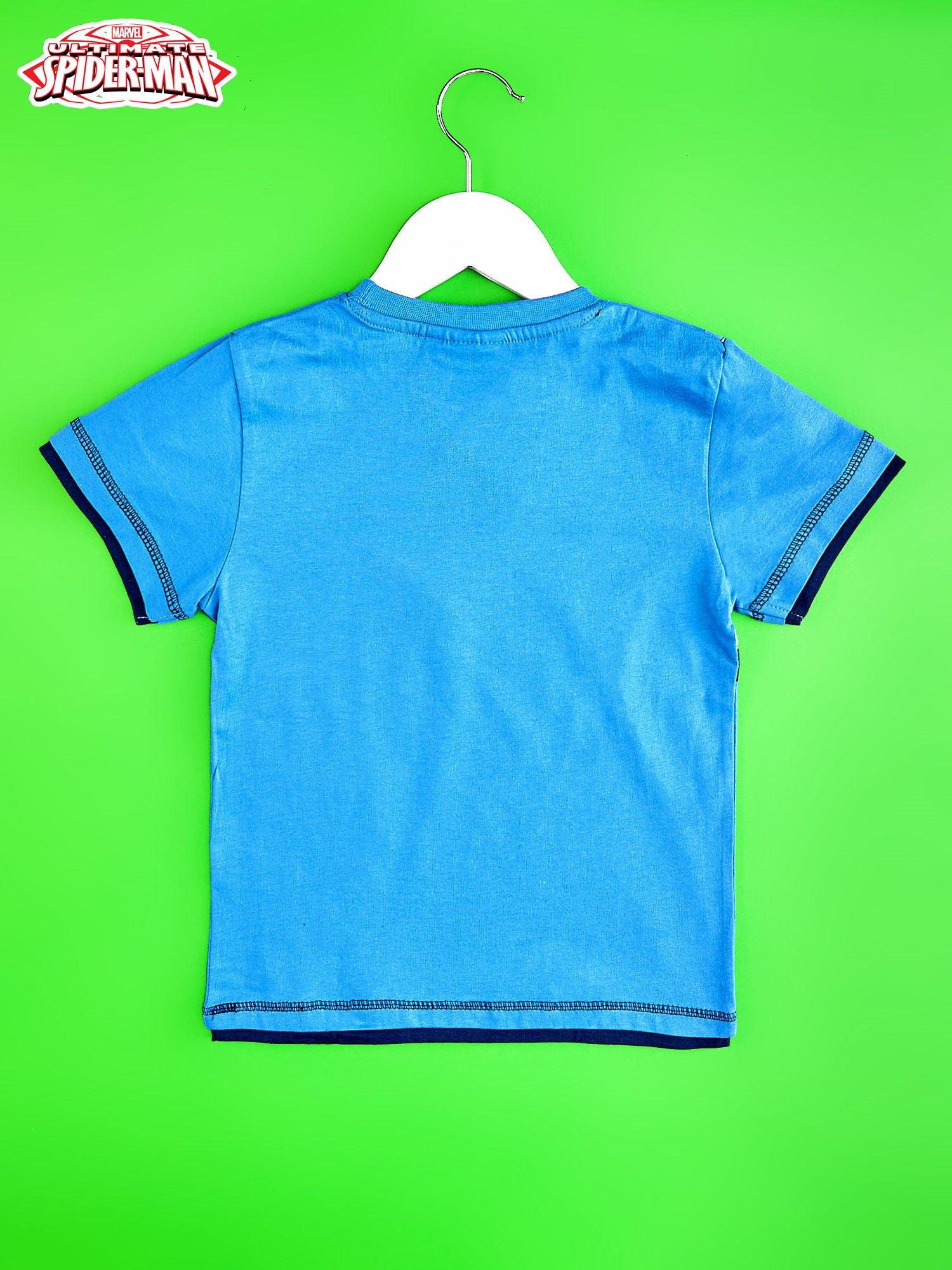 Niebieski t-shirt chłopięcy SPIDERMAN                                  zdj.                                  2
