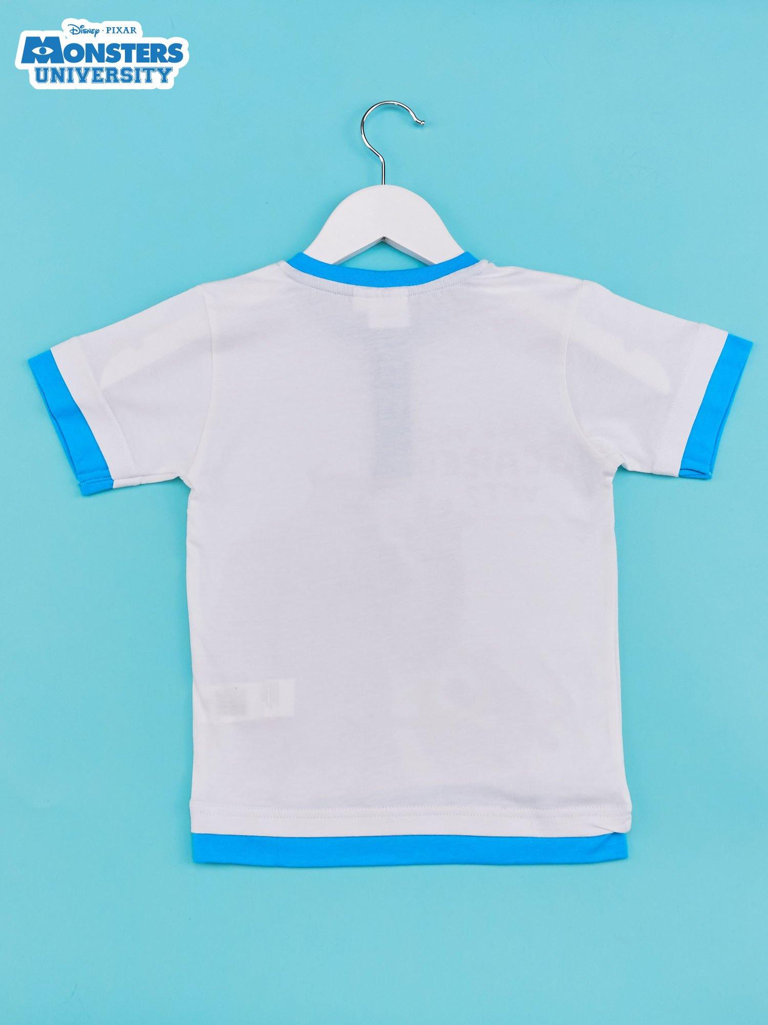 Niebieski t-shirt chłopięcy UNIWERSYTET POTWORNY                                  zdj.                                  2