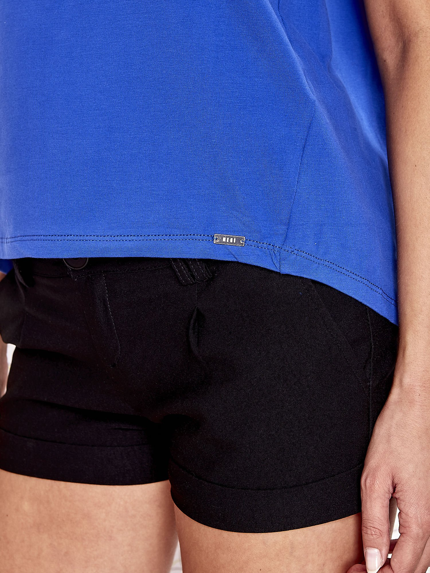 Niebieski t-shirt z napisem LIU J❤                                  zdj.                                  5