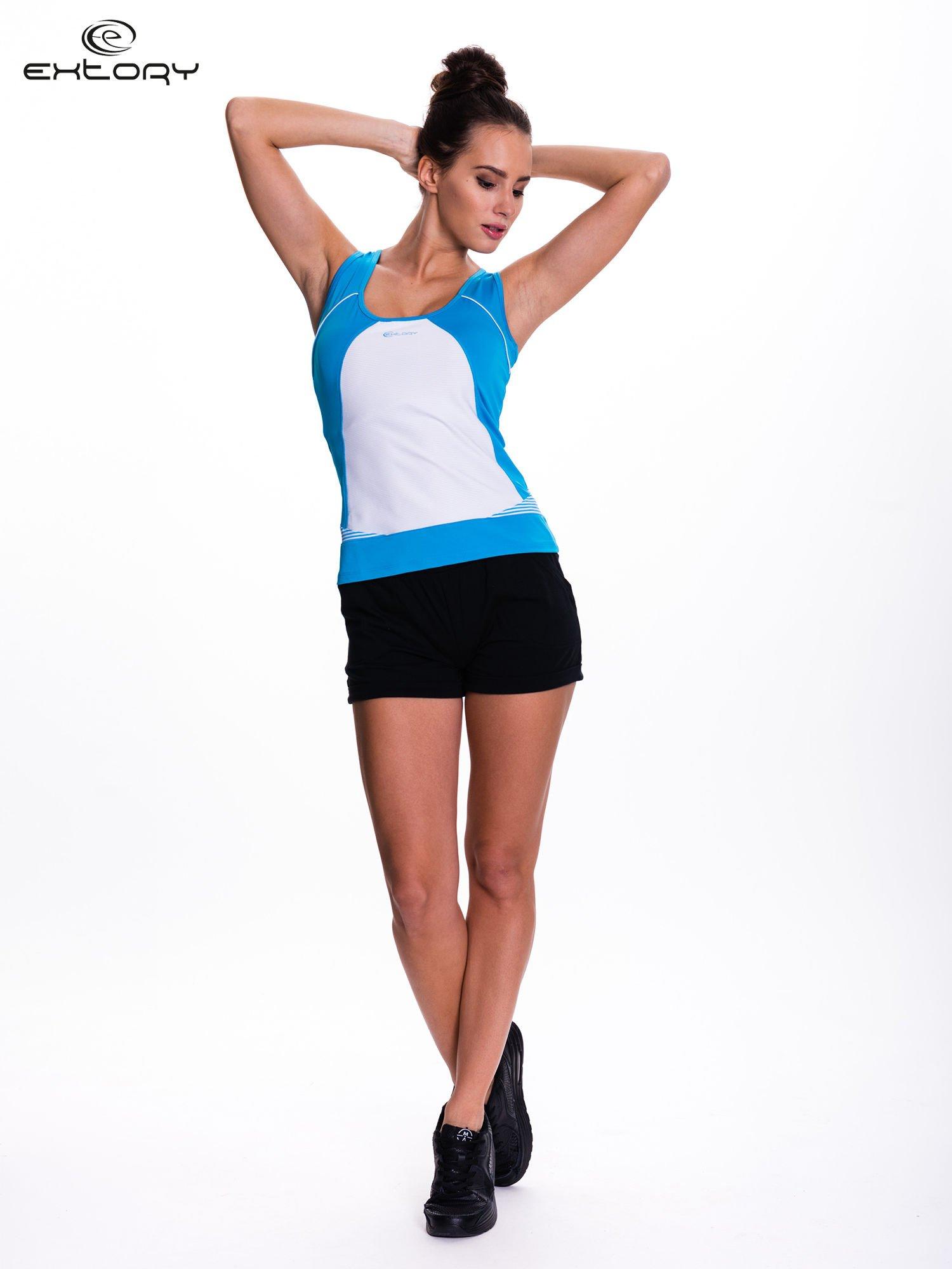 Niebieski top sportowy na fitness                                  zdj.                                  2
