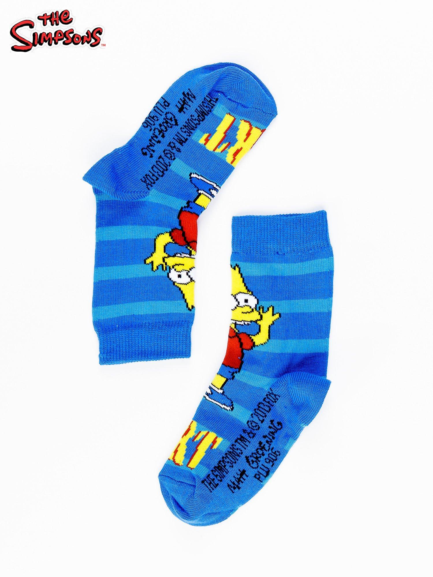 Niebieskie chłopięce skarpetki THE SIMPSONS                                  zdj.                                  2