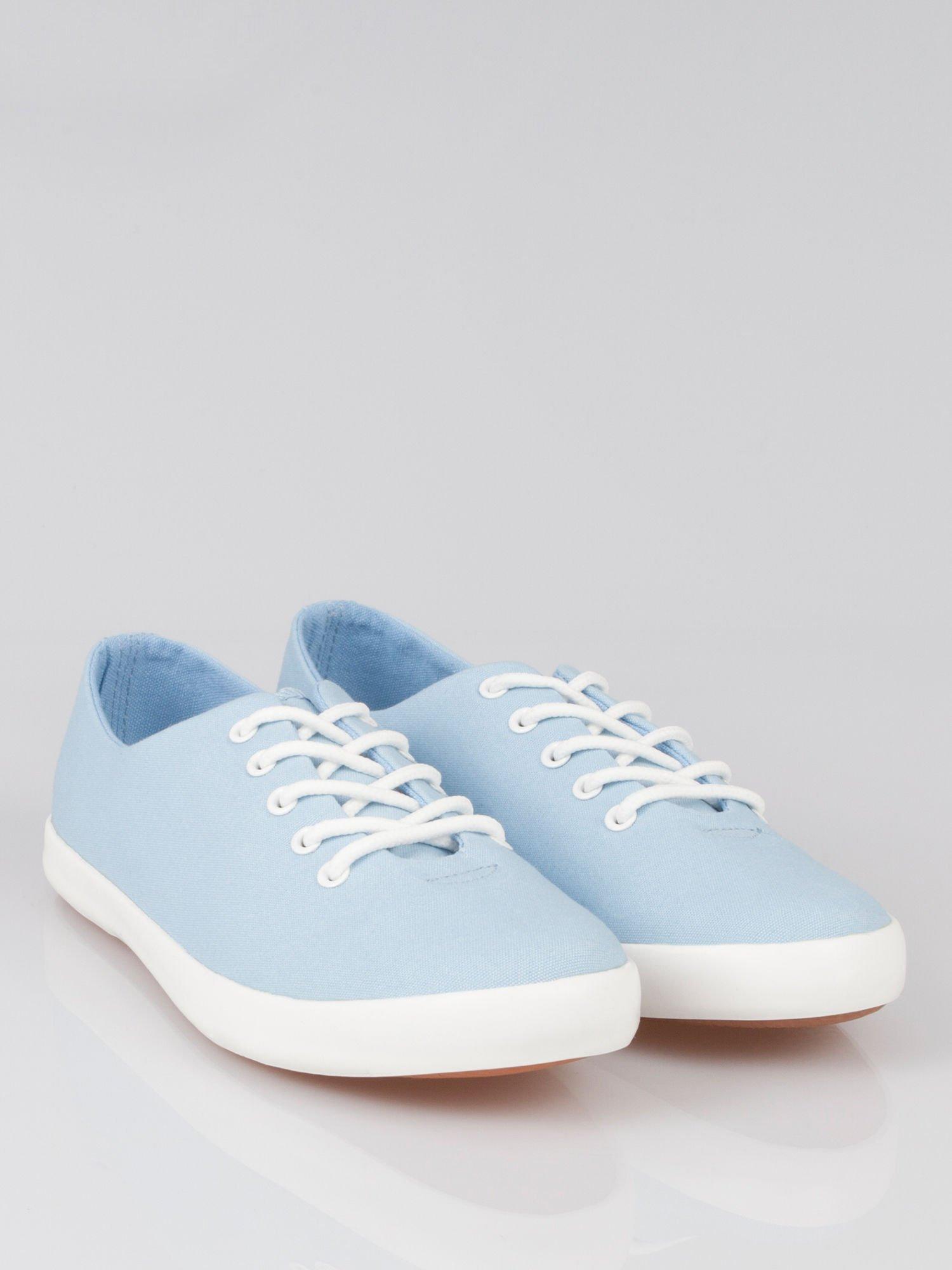Niebieskie klasyczne tenisówki Blue Sky                                  zdj.                                  1