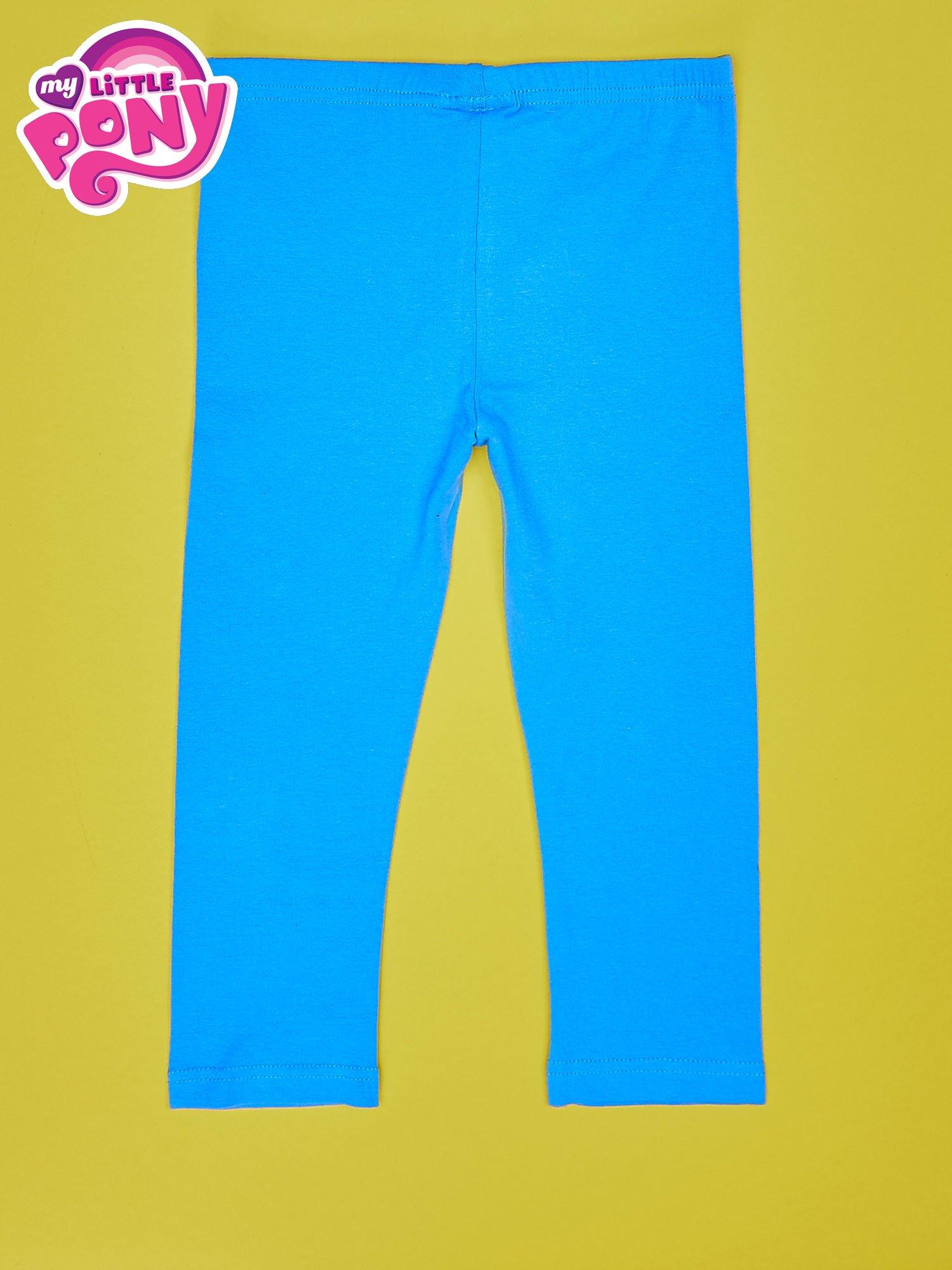 Niebieskie legginsy dla dziewczynki z nadrukiem MY LITTLE PONY                                  zdj.                                  2