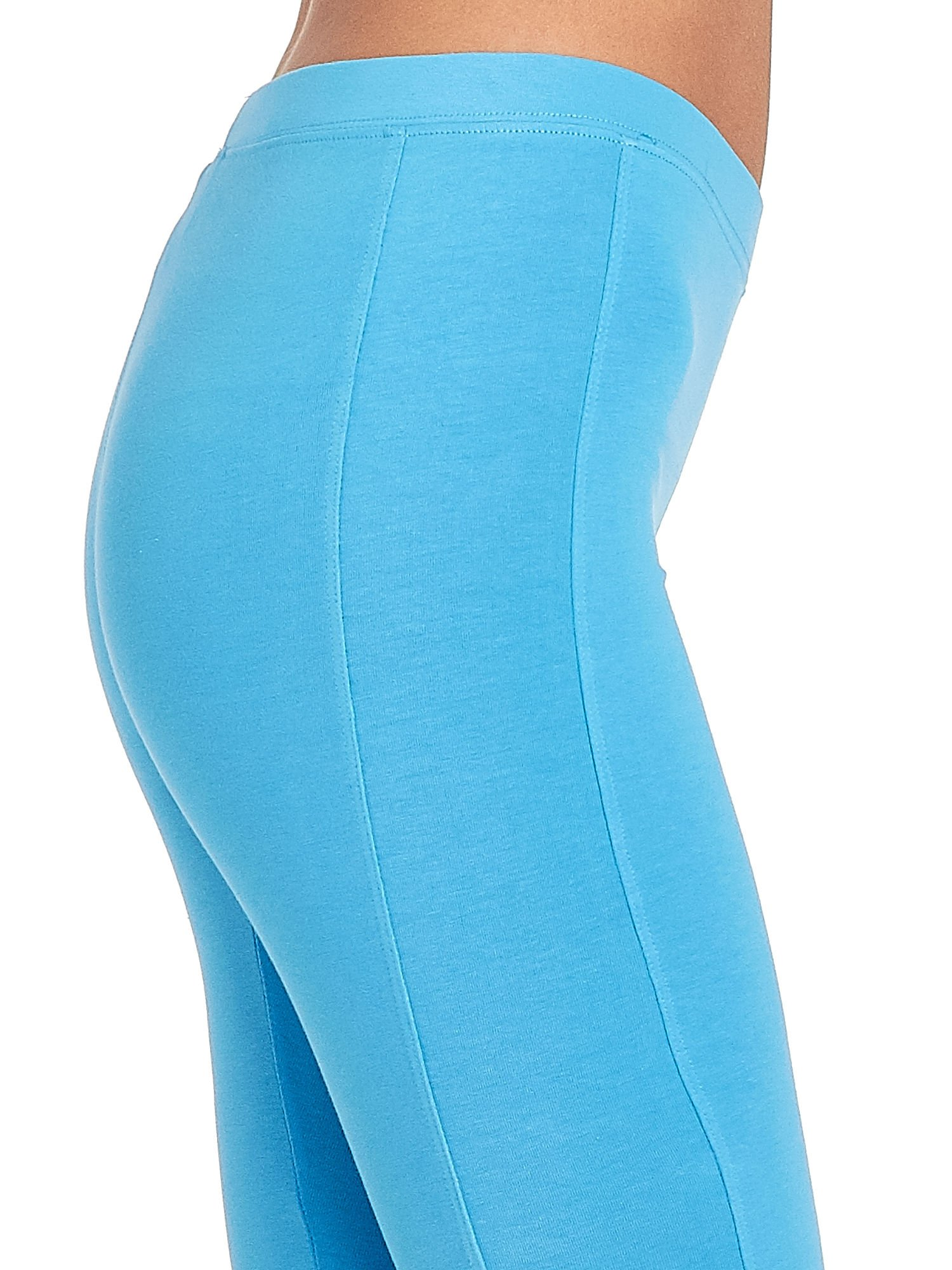 Niebieskie legginsy sportowe termalne z drapowaniem                                  zdj.                                  6