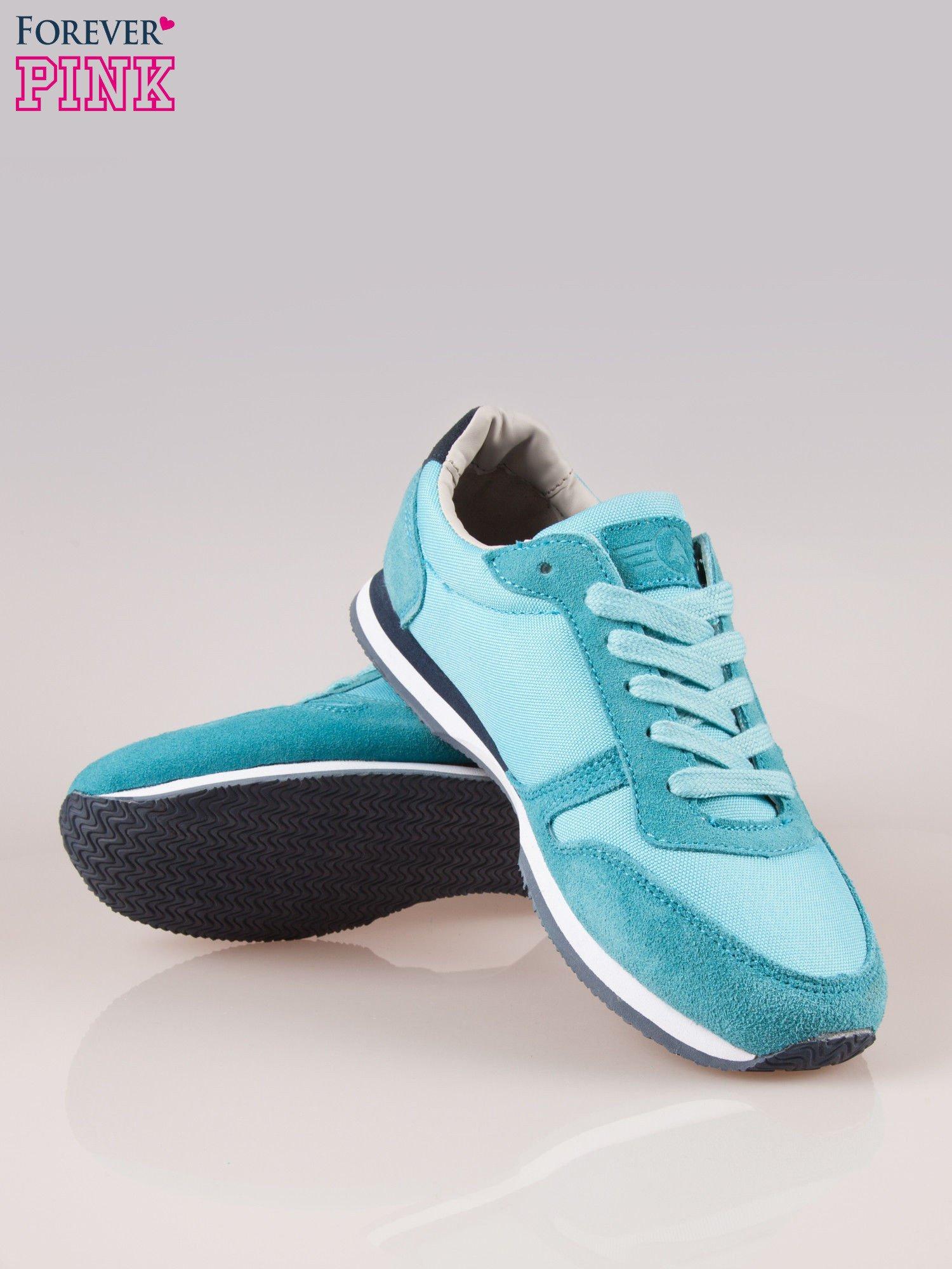 Niebieskie miejskie buty sportowe z zamszu                                  zdj.                                  4