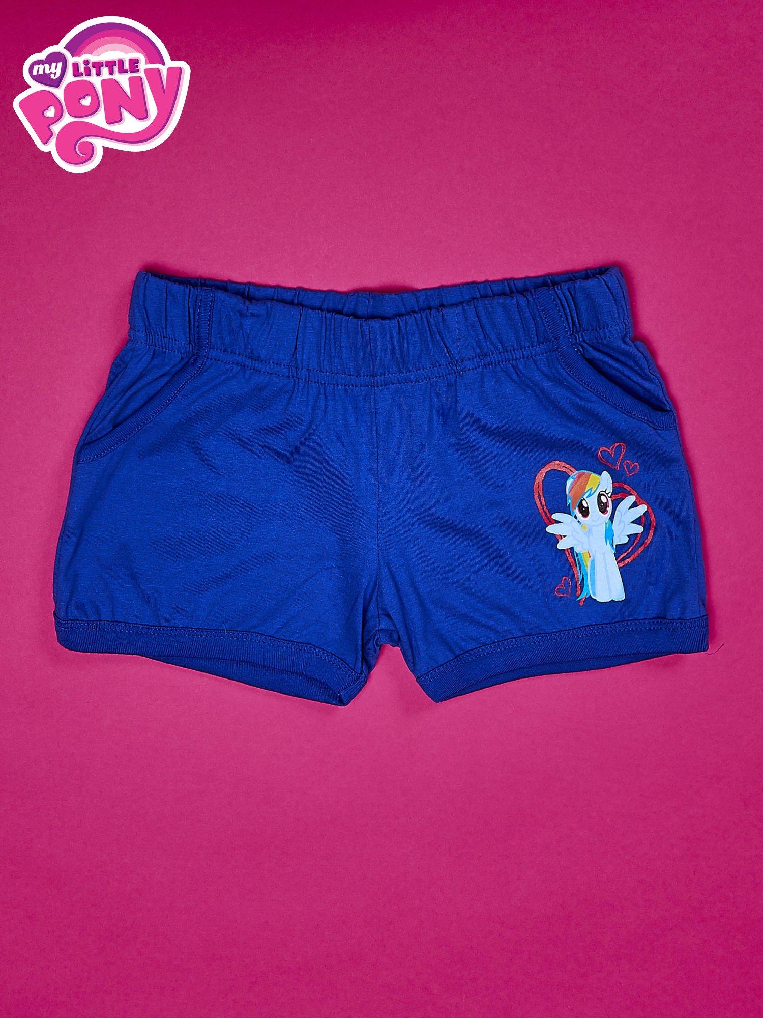 Niebieskie szorty dla dziewczynki MY LITTLE PONY                                  zdj.                                  1