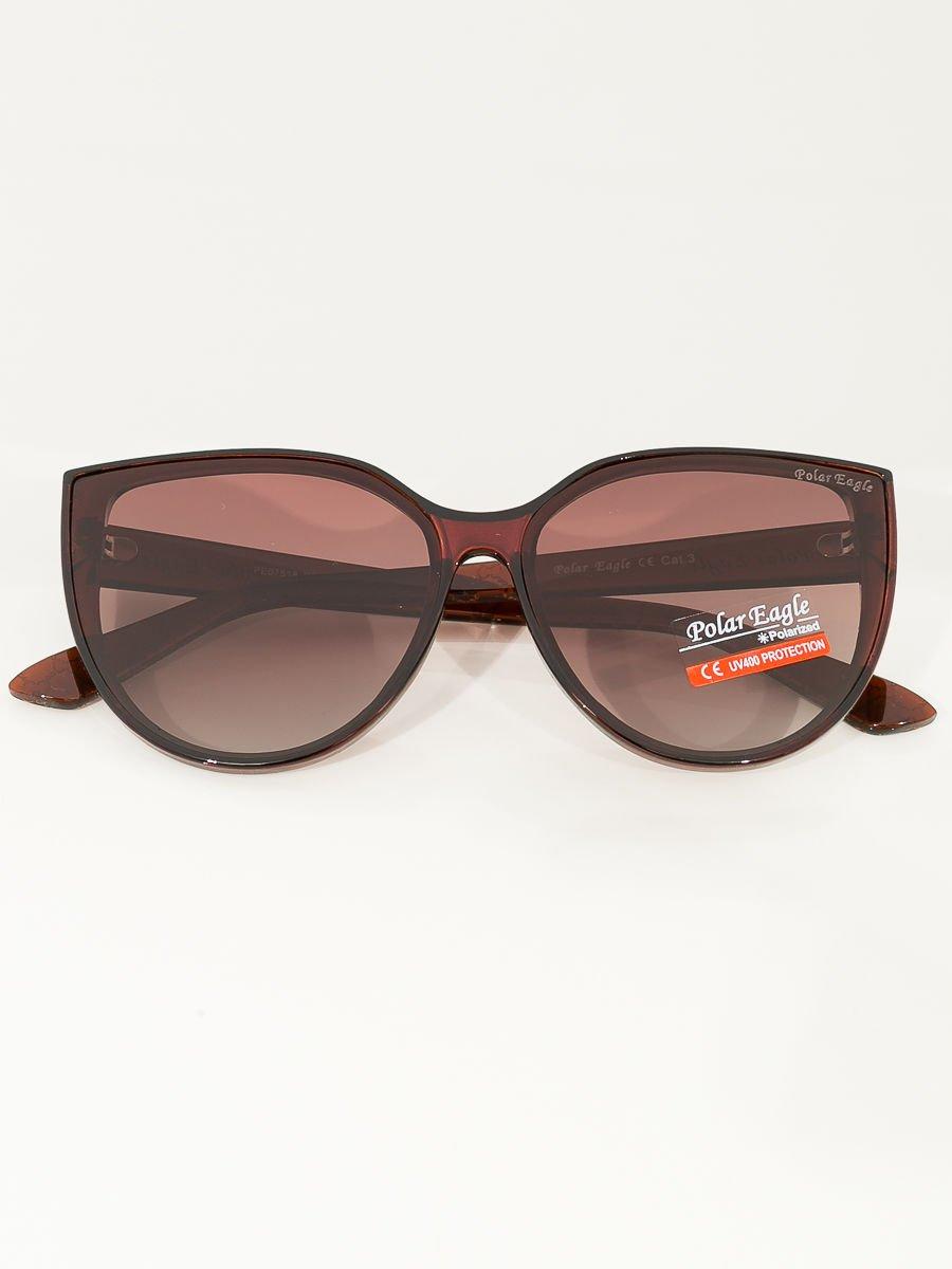 PREMIUM Brązowe przeciwsłoneczne damskie okulary