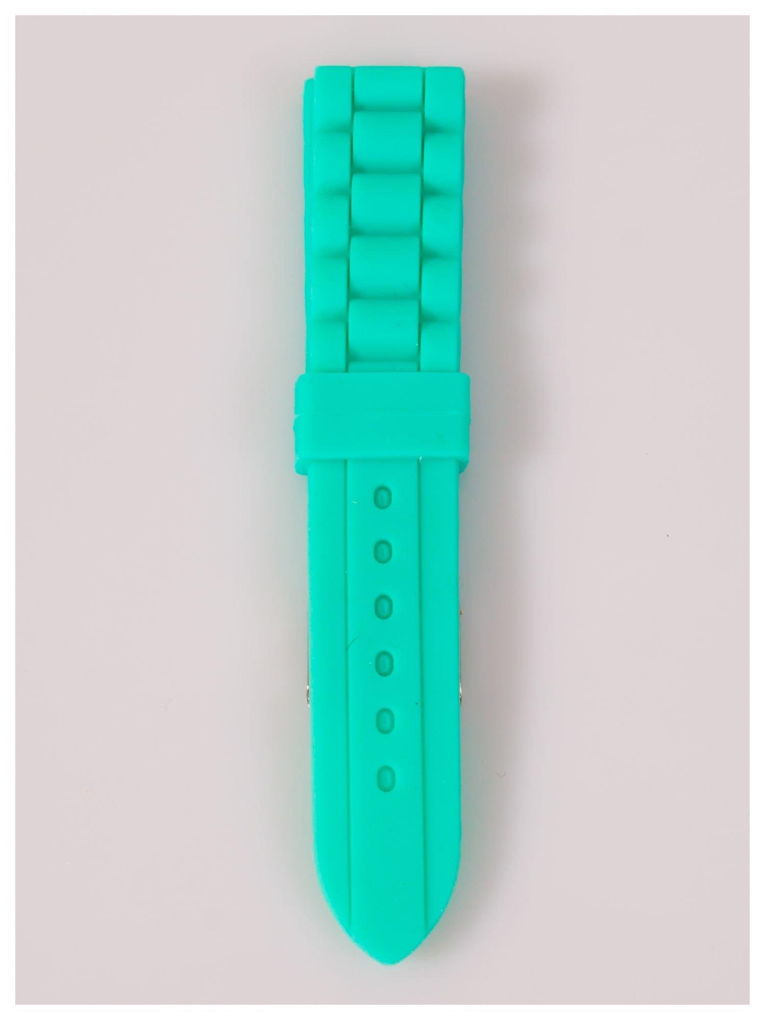Pasek silikonowy do zegarka 20 mm - miętowy                                  zdj.                                  2