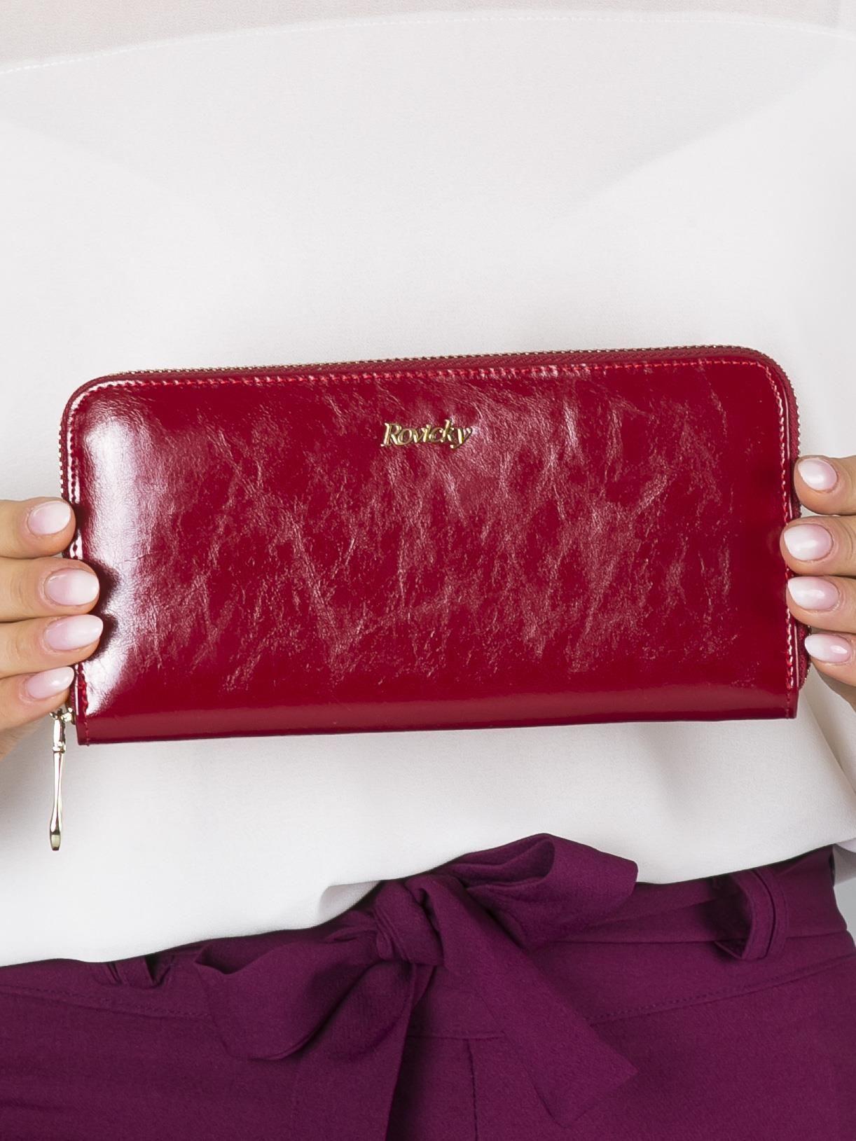 2f8971c7fa408 Podłużny damski portfel skórzany czerwony - Akcesoria portfele - sklep  eButik.pl