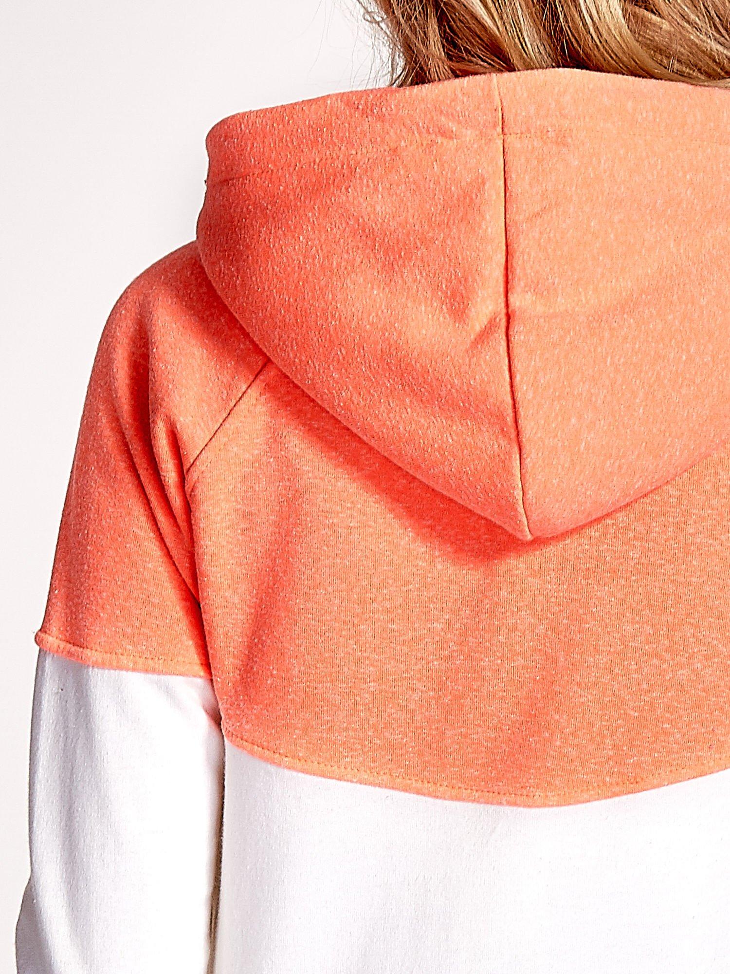 Pomarańczowa bluza z białym pasem                                  zdj.                                  7