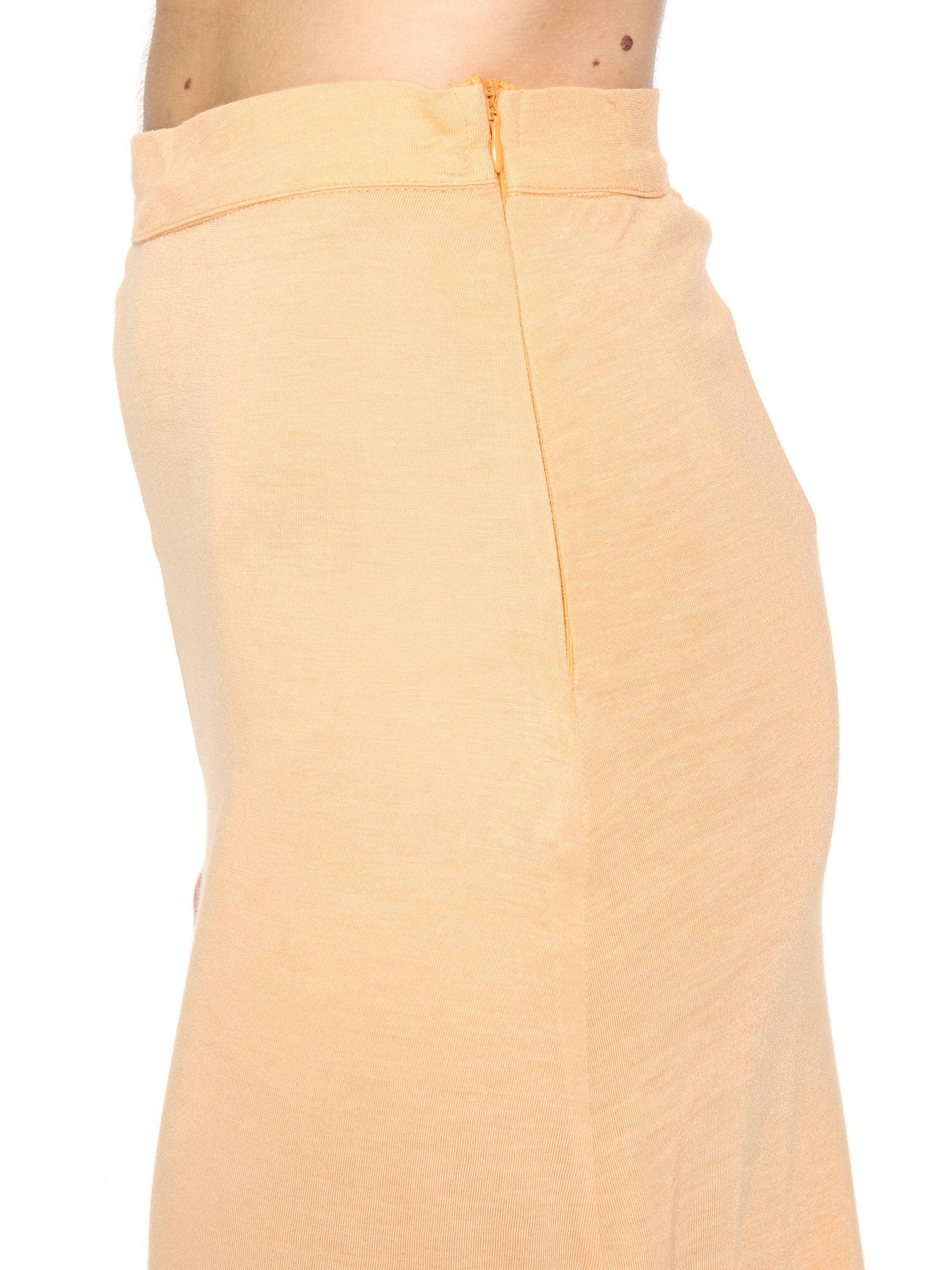Pomarańczowa spódnica maxi z rozcięciami po bokach                                  zdj.                                  5