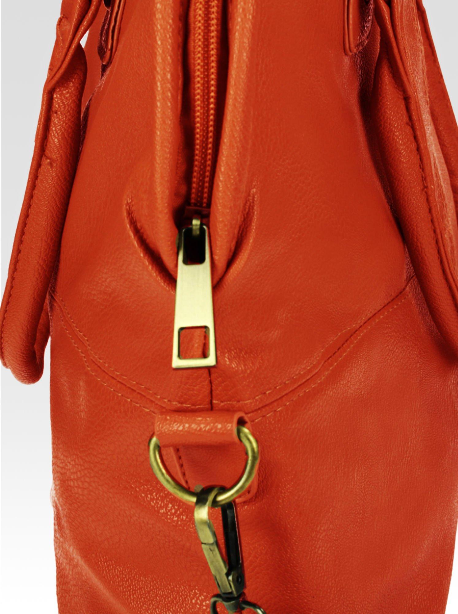 Pomarańczowa torba miejska na ramię                                  zdj.                                  6