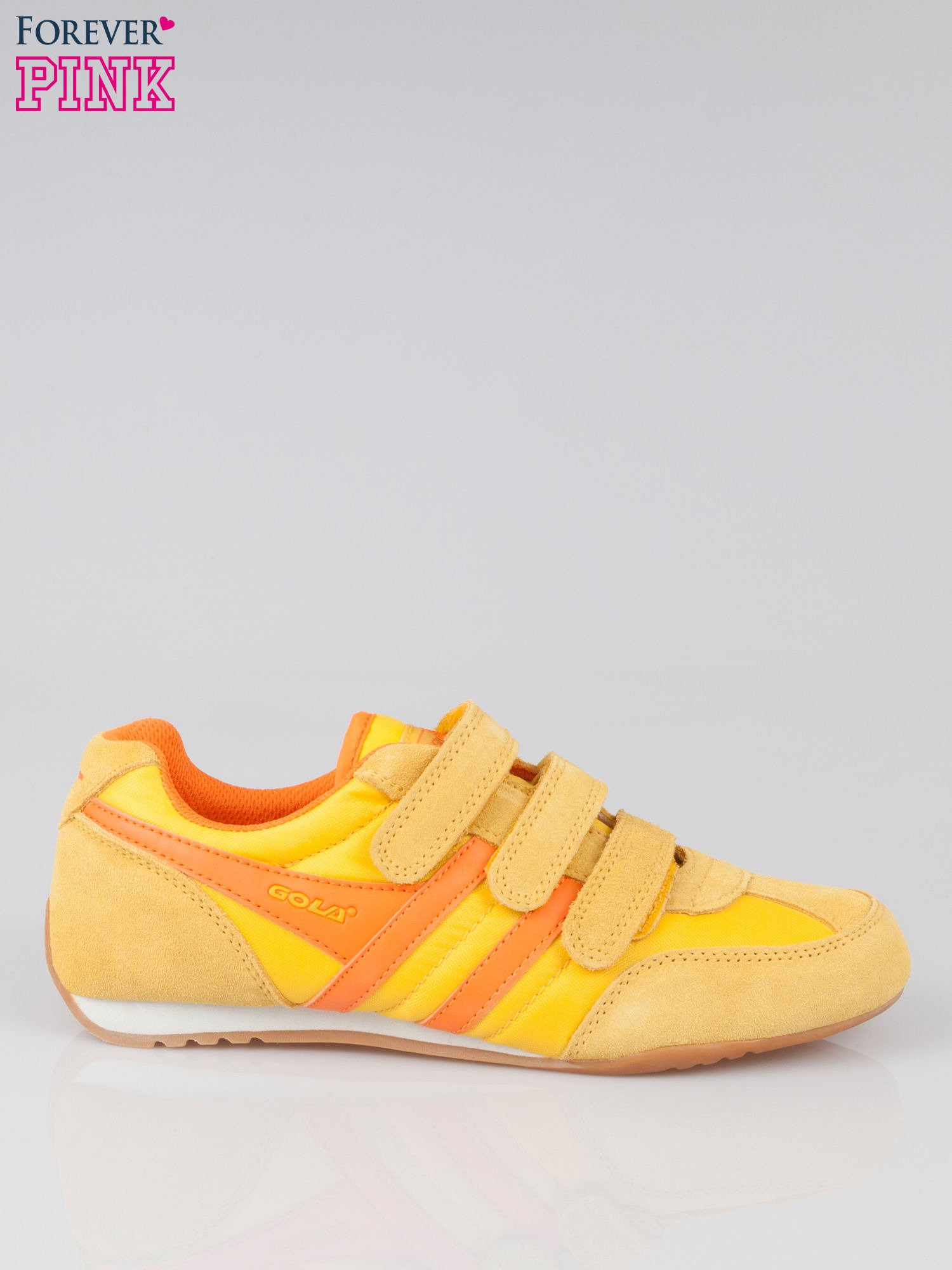 Pomarańczowe buty sportwe textile Sunrise na rzepy                                  zdj.                                  1