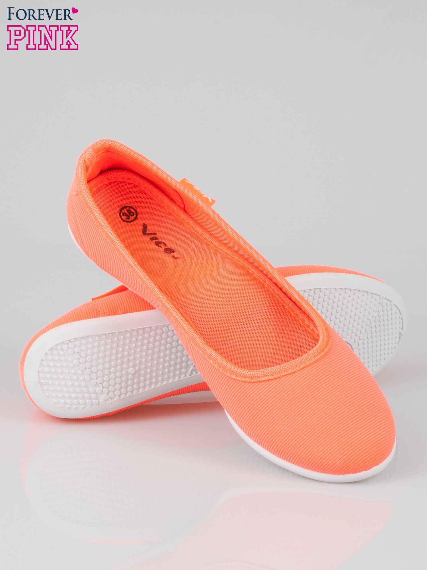 Pomarańczowe lekkie balerinki Cute Blush slip on                                  zdj.                                  4