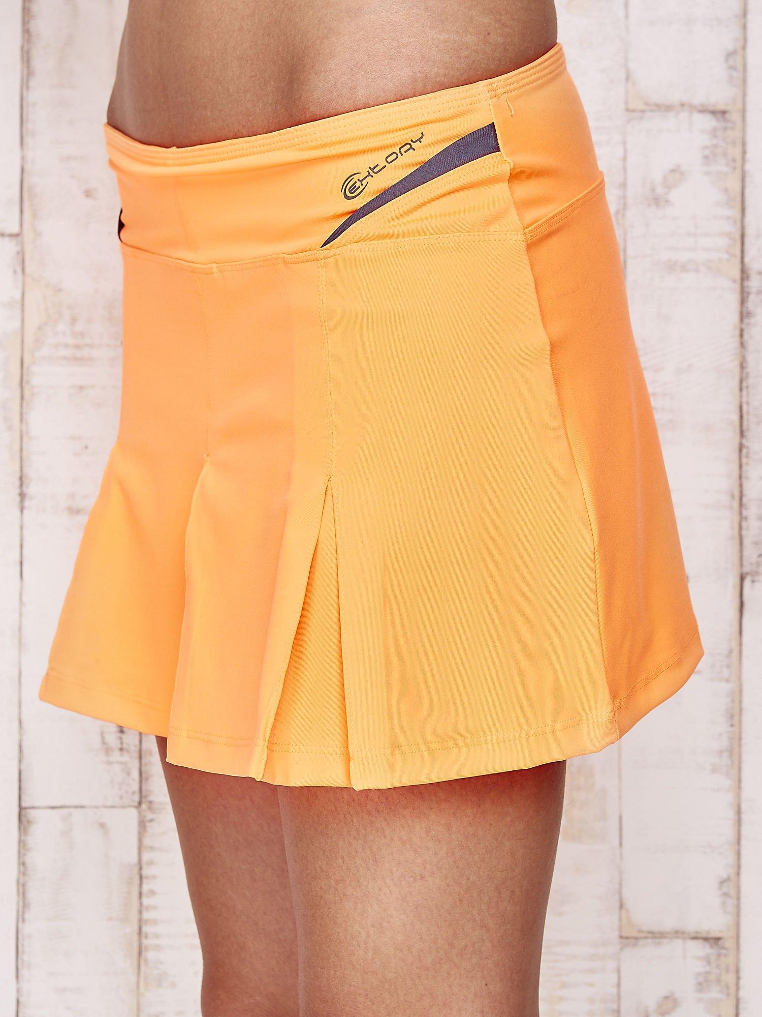 Pomarańczowe spodenki spódniczka tenisowa z szarymi wstawkami                                  zdj.                                  7