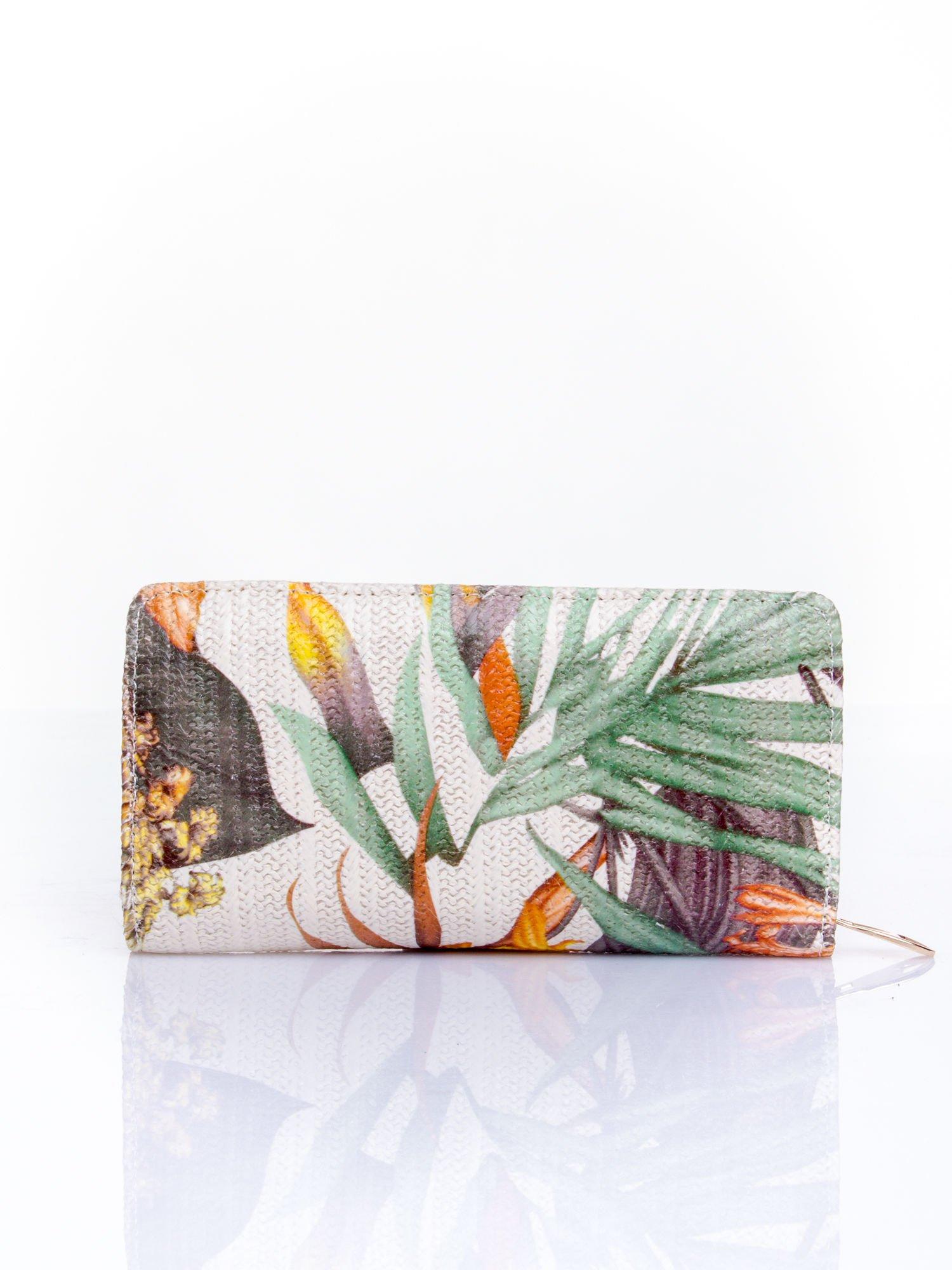 Pomarańczowy portfel z egzotycznym nadrukiem                                  zdj.                                  2