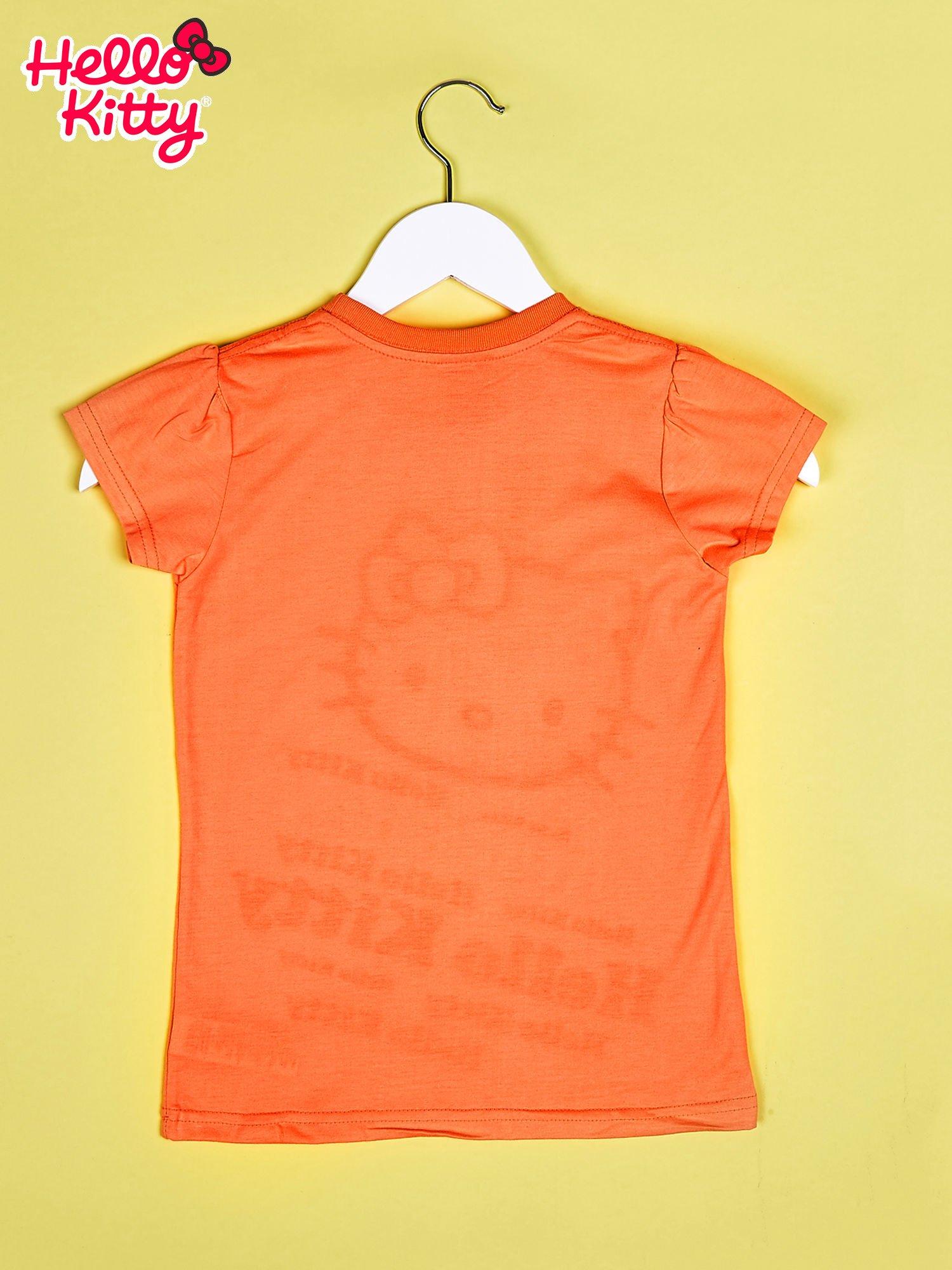 Pomarańczowy t-shirt dla dziewczynki HELLO KITTY                                  zdj.                                  2