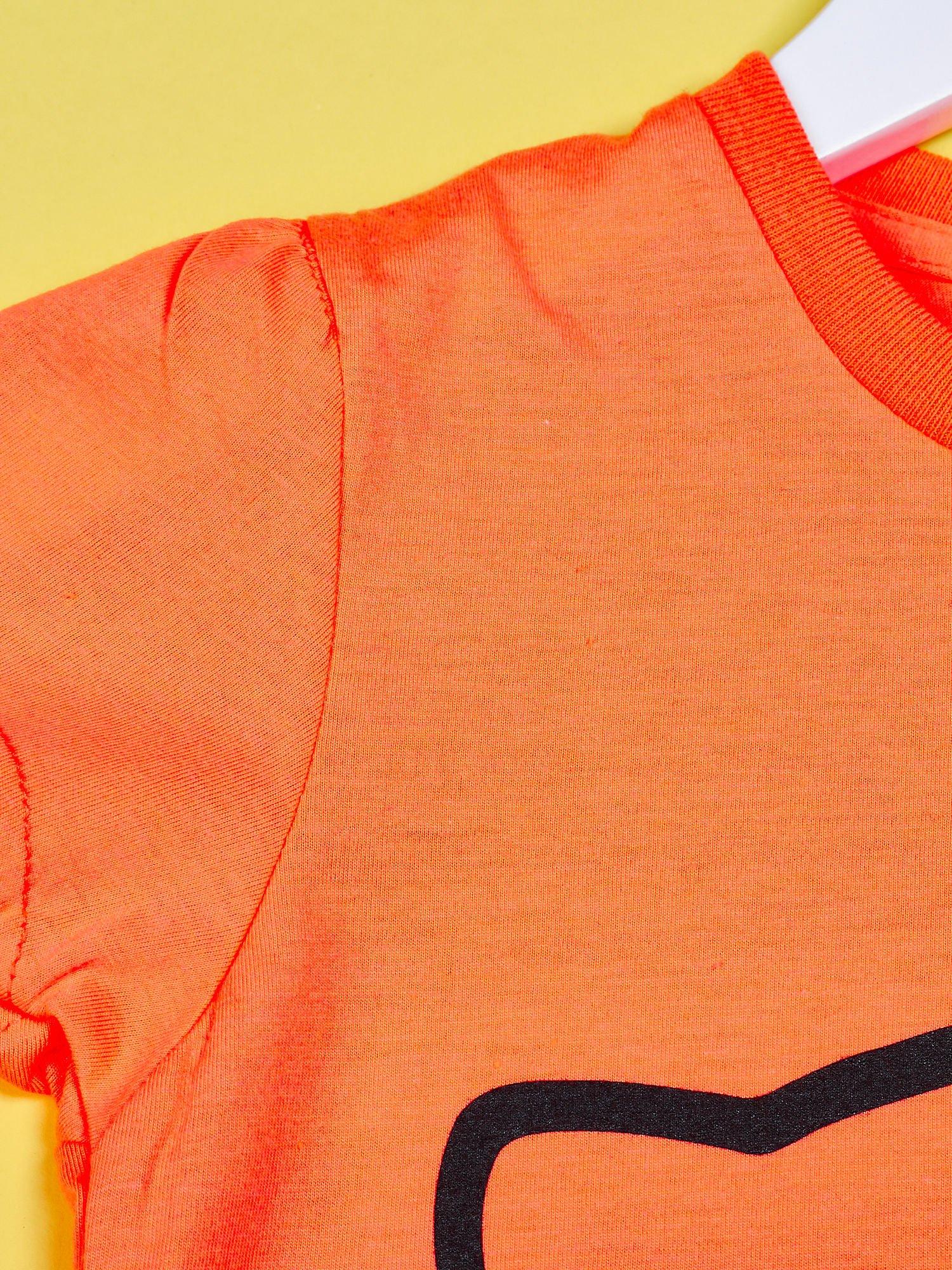 Pomarańczowy t-shirt dla dziewczynki HELLO KITTY                                  zdj.                                  3