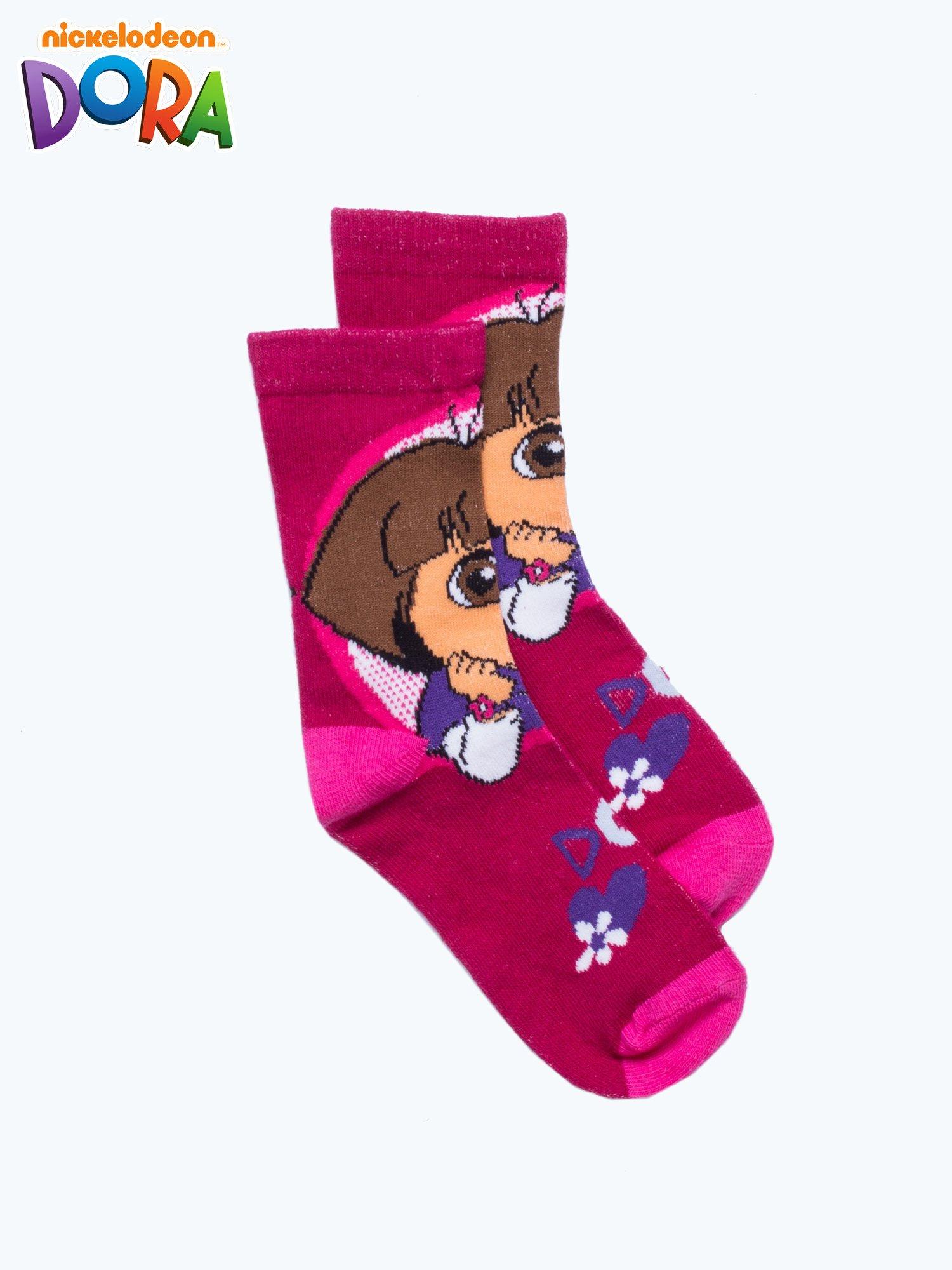 Purpurowe skarpetki dla dziewczynki DORA                                  zdj.                                  1