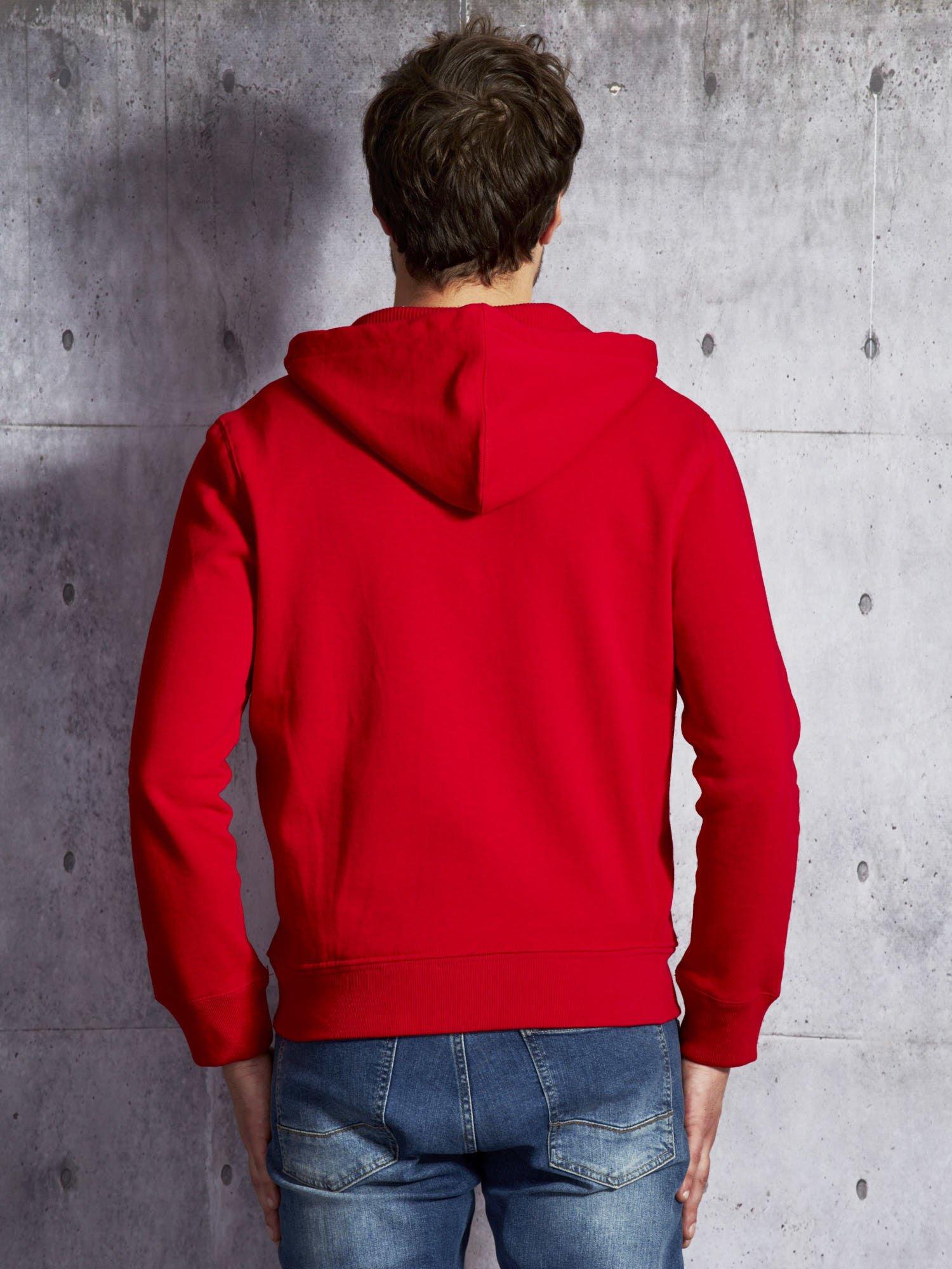 1cfd499cd20573 RALPH LAUREN Czerwona ocieplana bluza męska z kapturem - Mężczyźni ...
