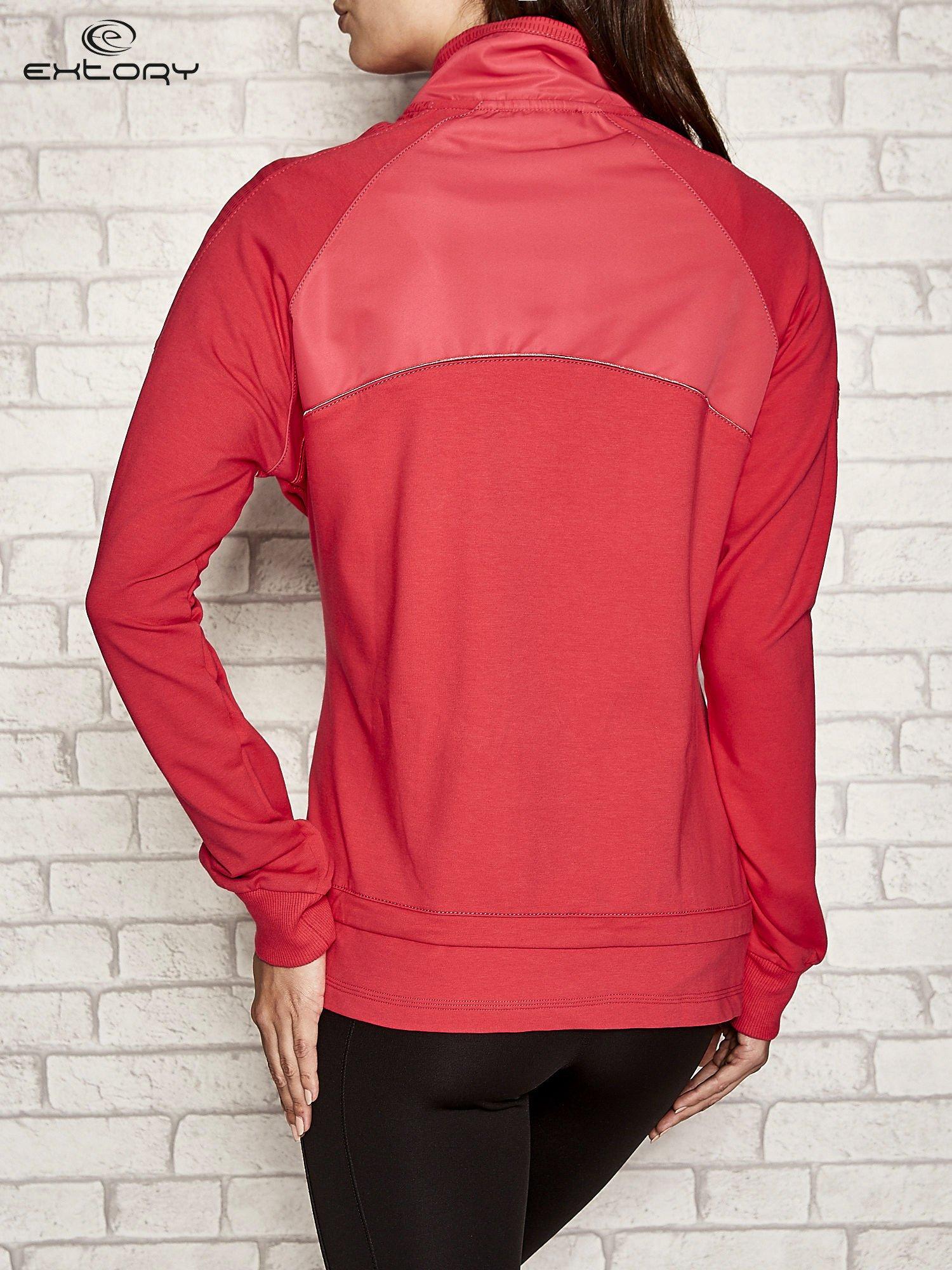 Różowa bluza sportowa fitness z wiązaniem                                  zdj.                                  2