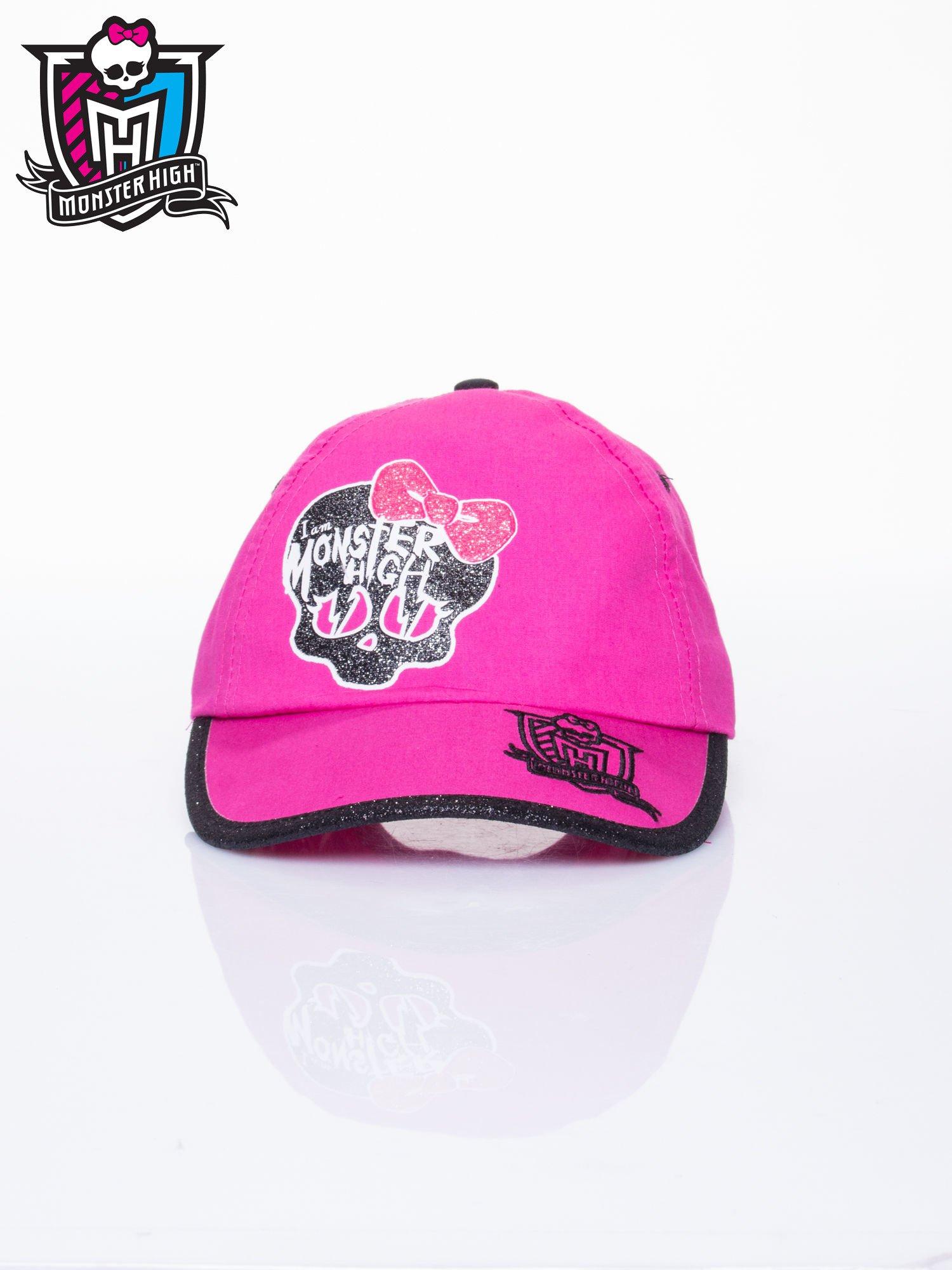 Różowa czapka z daszkiem dla dziewczynki MONSTER HIGH                                  zdj.                                  1